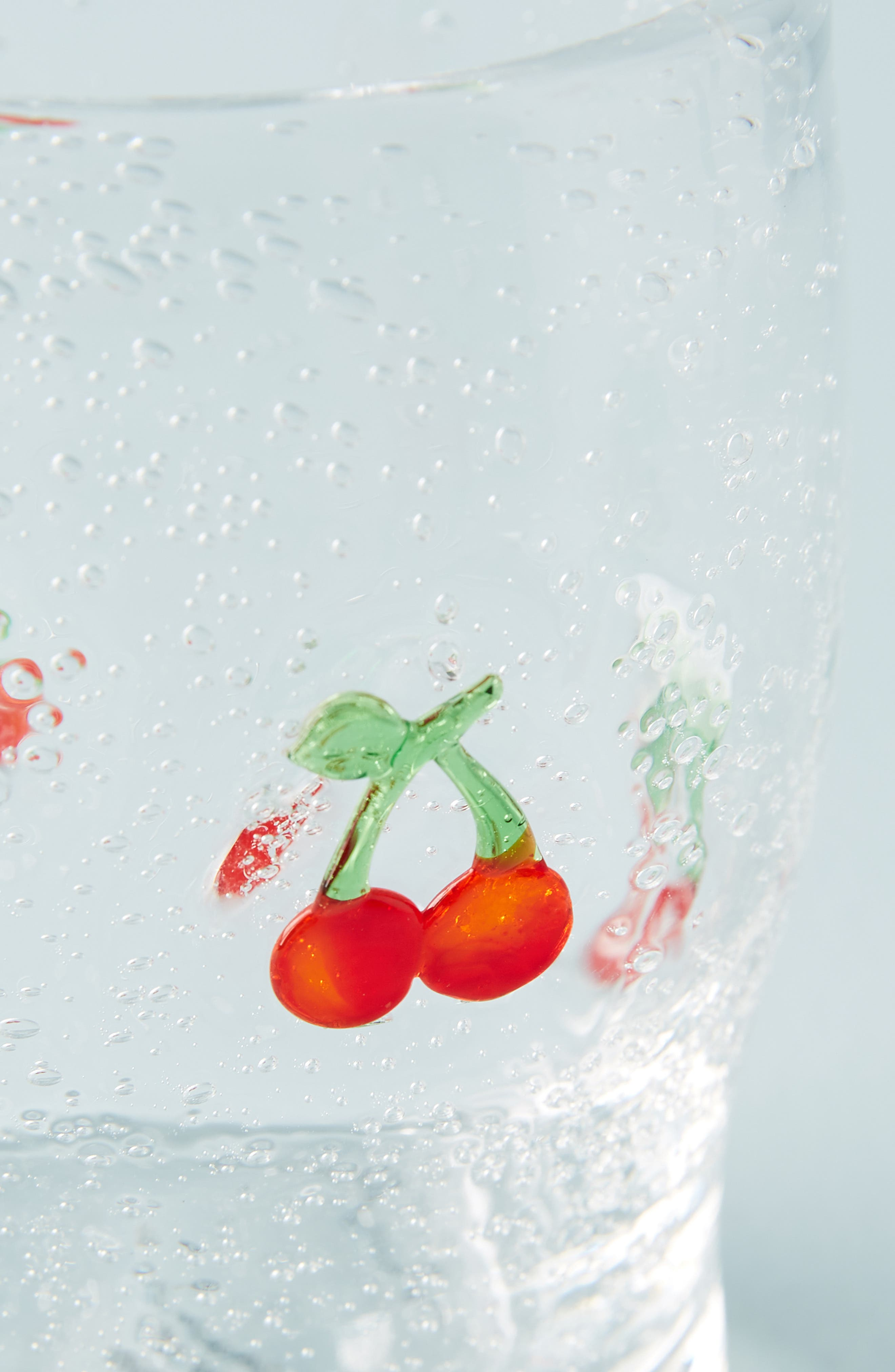 ANTHROPOLOGIE, Gallion Juice Glass, Alternate thumbnail 3, color, CHERRY