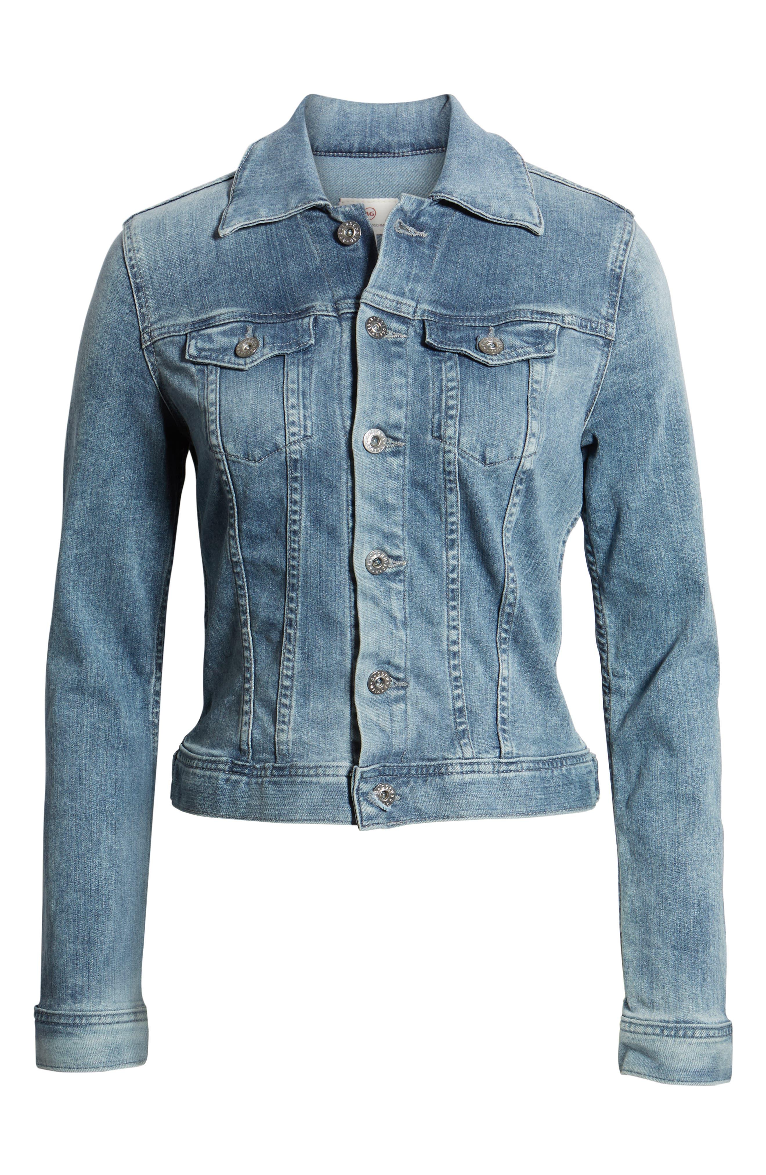 AG, 'Robyn' Denim Jacket, Alternate thumbnail 6, color, 439