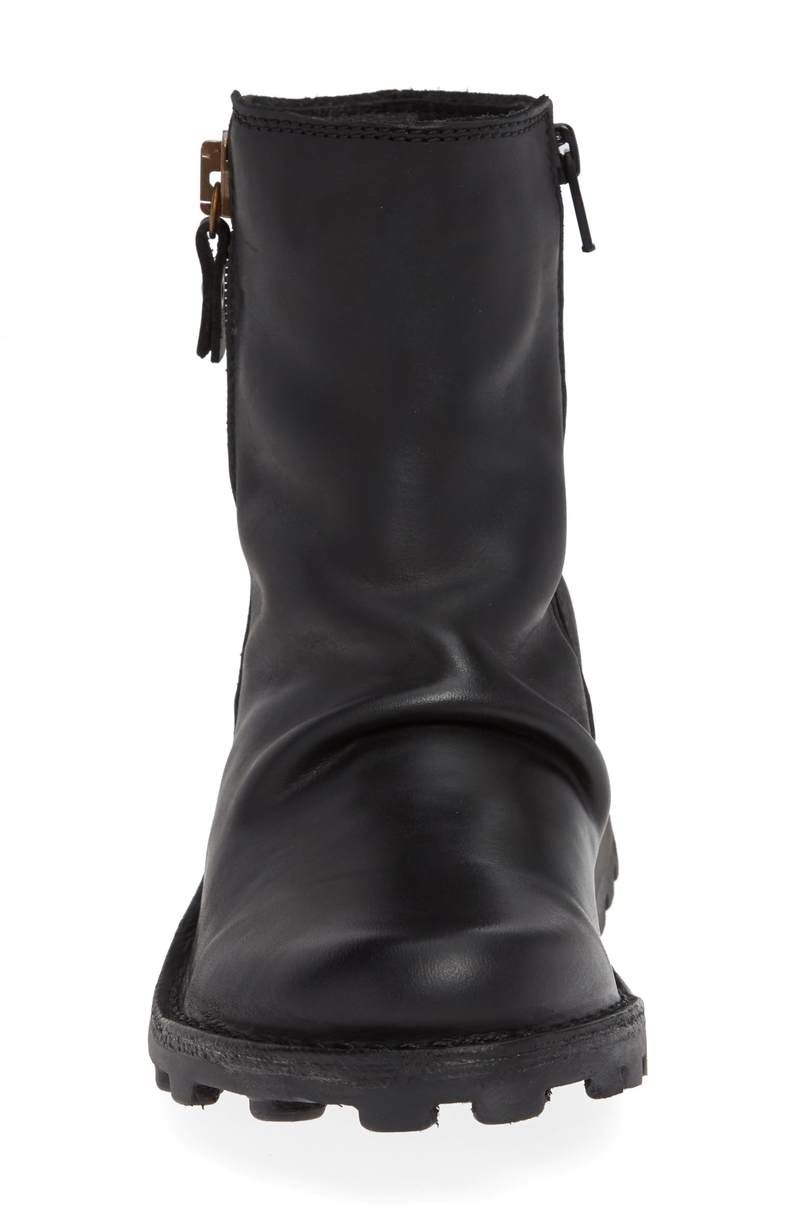 FLY LONDON, Mong Boot, Alternate thumbnail 4, color, BLACK LEATHER