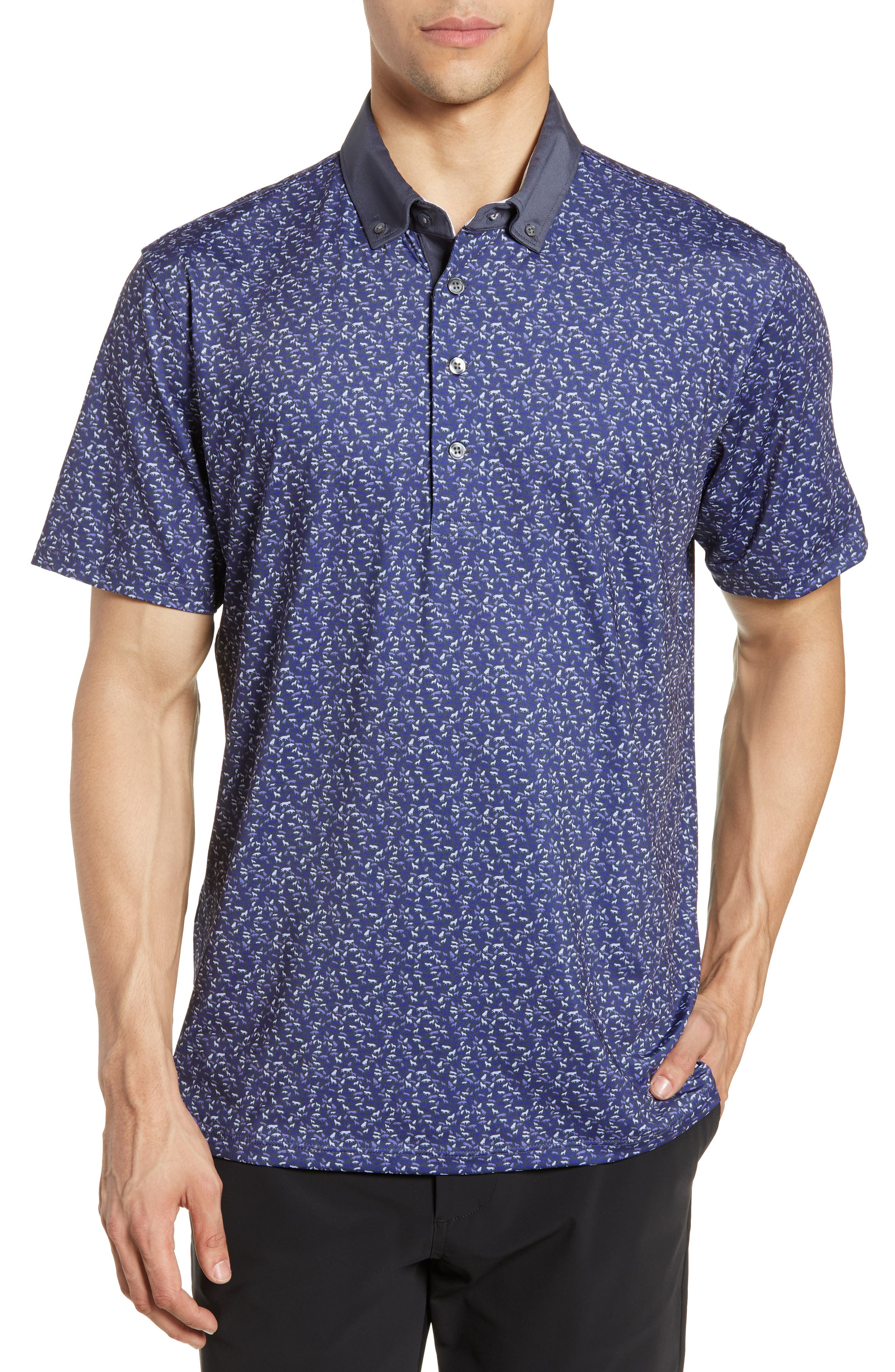 GREYSON Wolfpack Technical Polo, Main, color, SWALLOW/ DOVE