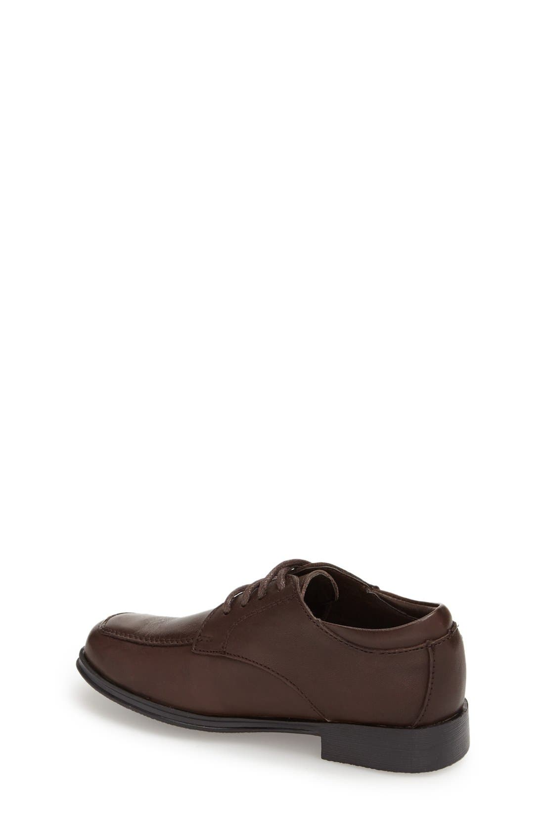 REACTION KENNETH COLE, Kid Club Loafer, Alternate thumbnail 4, color, DARK BROWN