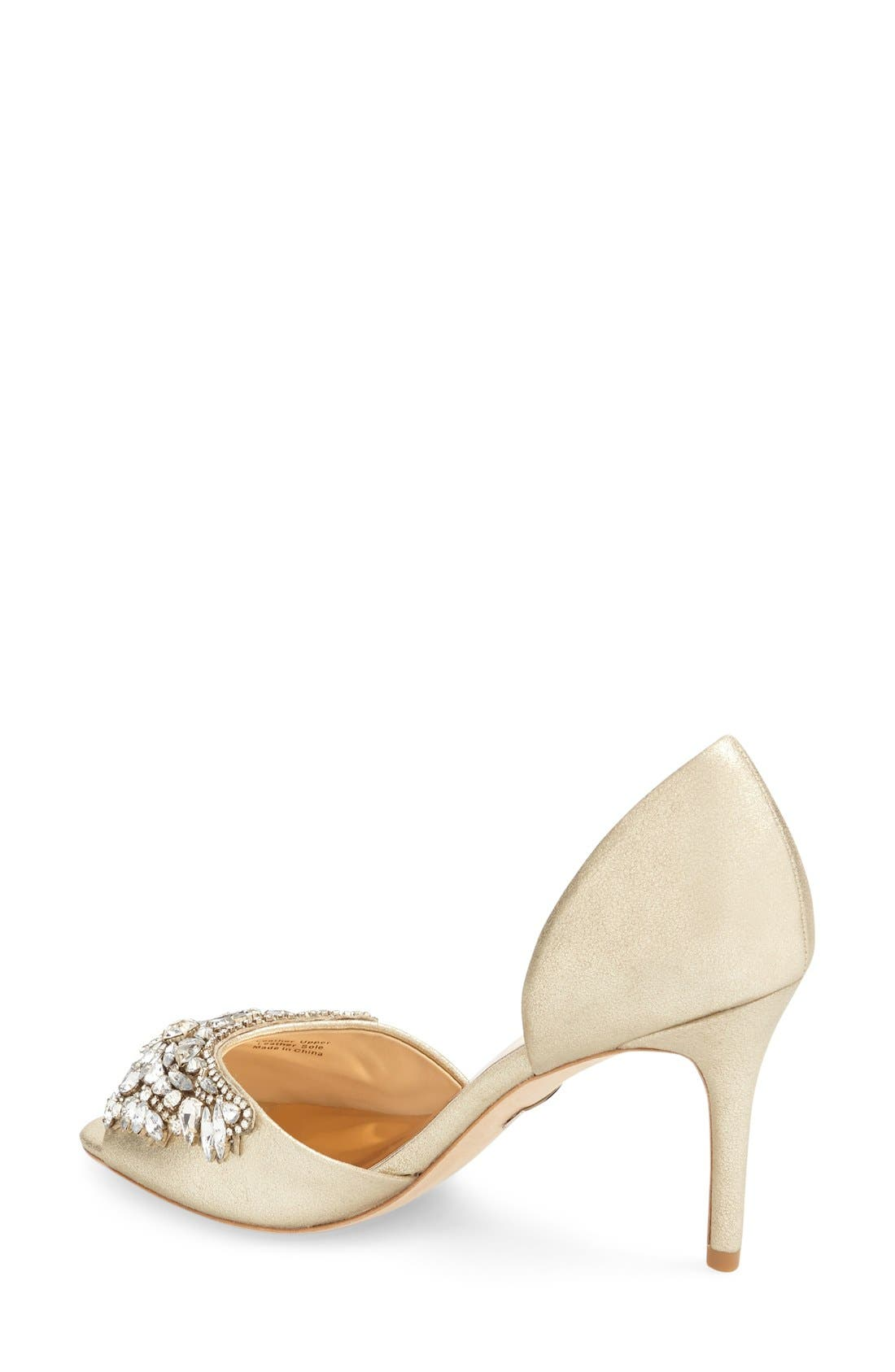 BADGLEY MISCHKA COLLECTION, Badgley Mischka 'Candance' Crystal Embellished d'Orsay Pump, Alternate thumbnail 3, color, 040