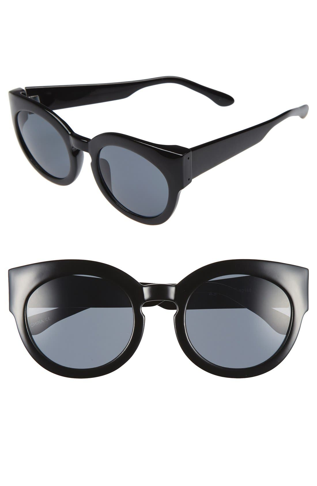 A.J. MORGAN, 'Sophia' 52mm Sunglasses, Main thumbnail 1, color, 001
