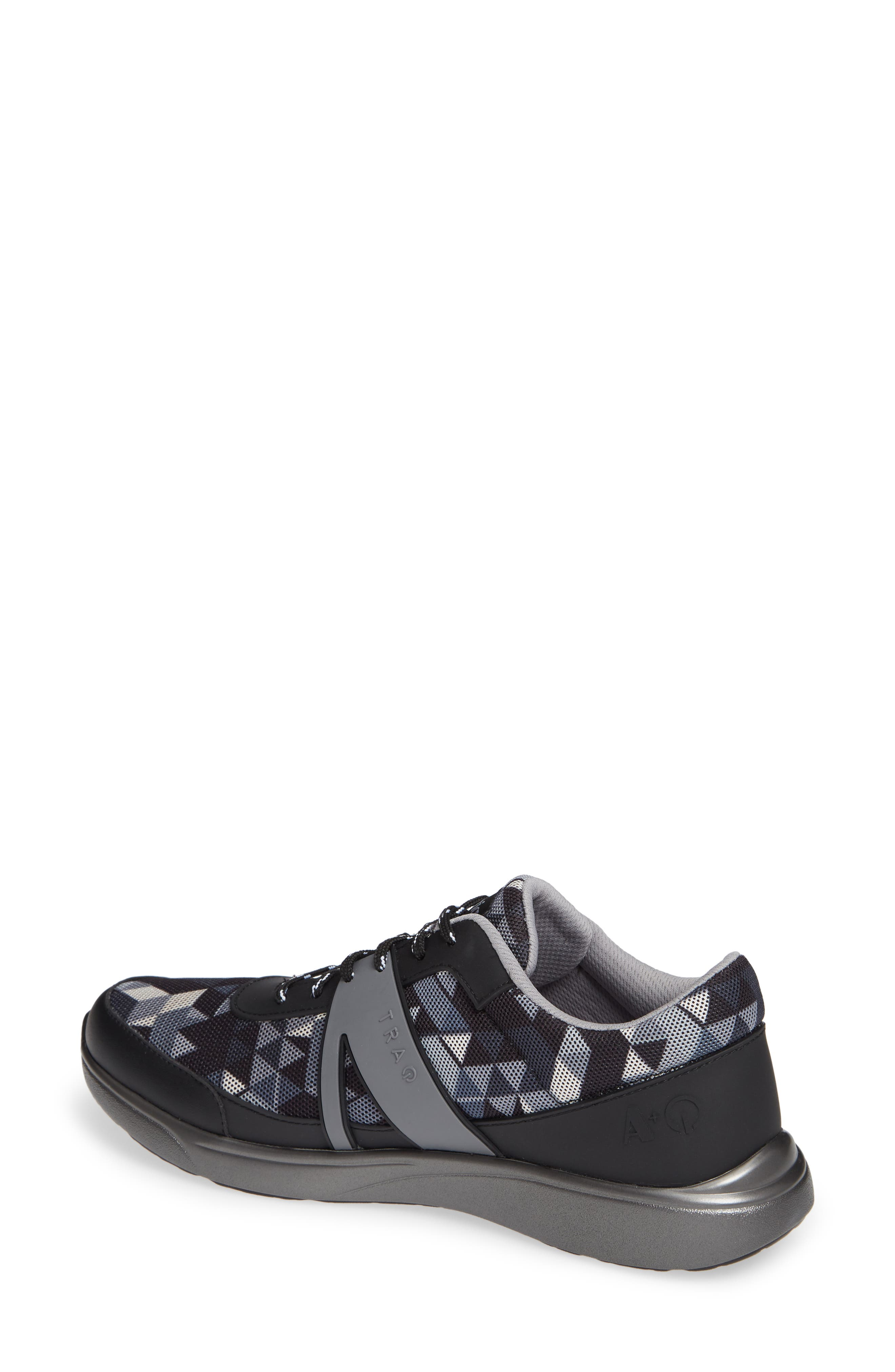 ALEGRIA, Qarma Sneaker, Alternate thumbnail 2, color, BLACK ANGLE LEATHER