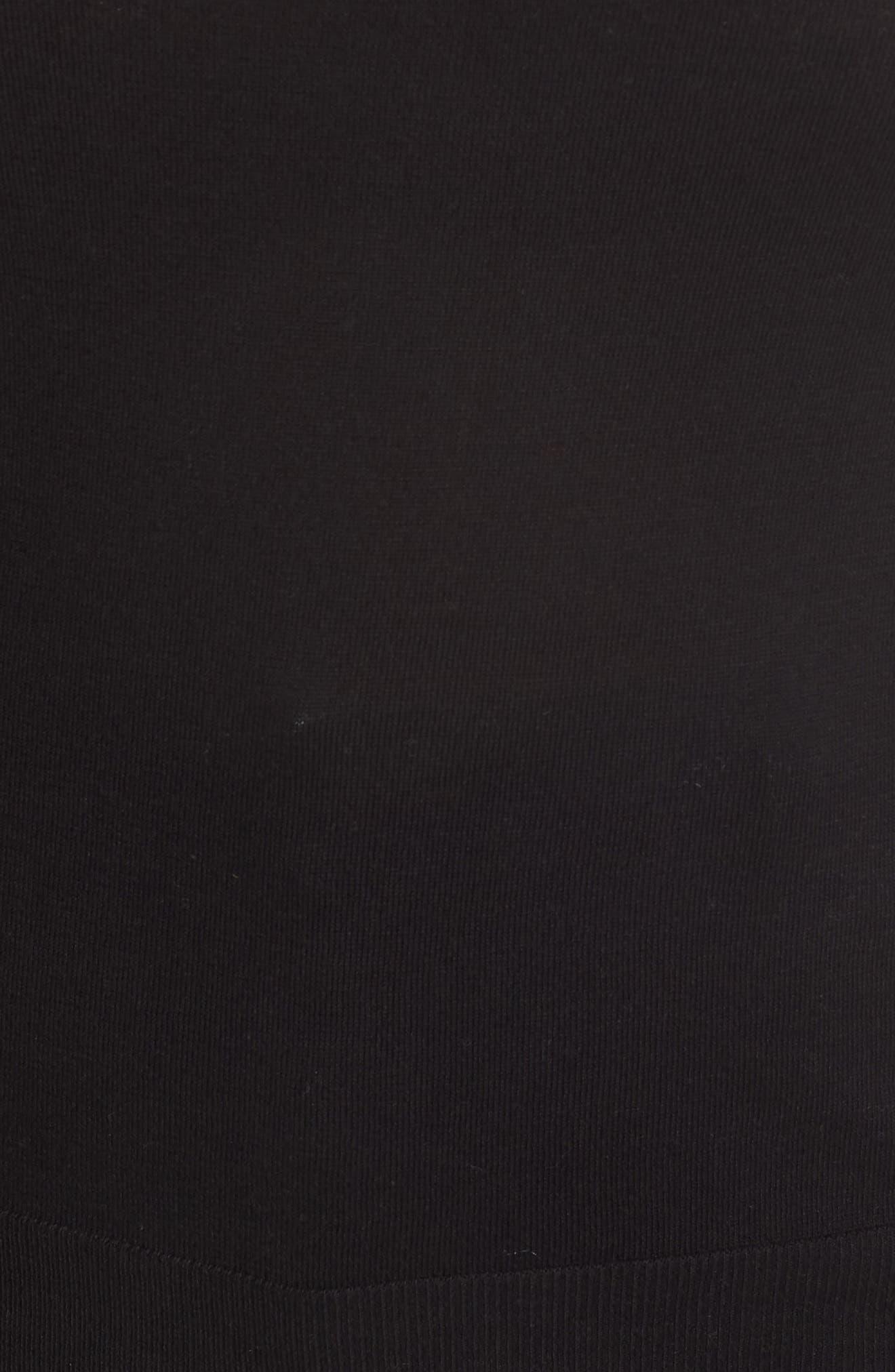 HALOGEN<SUP>®</SUP>, Bateau Neck Sweater, Alternate thumbnail 5, color, BLACK