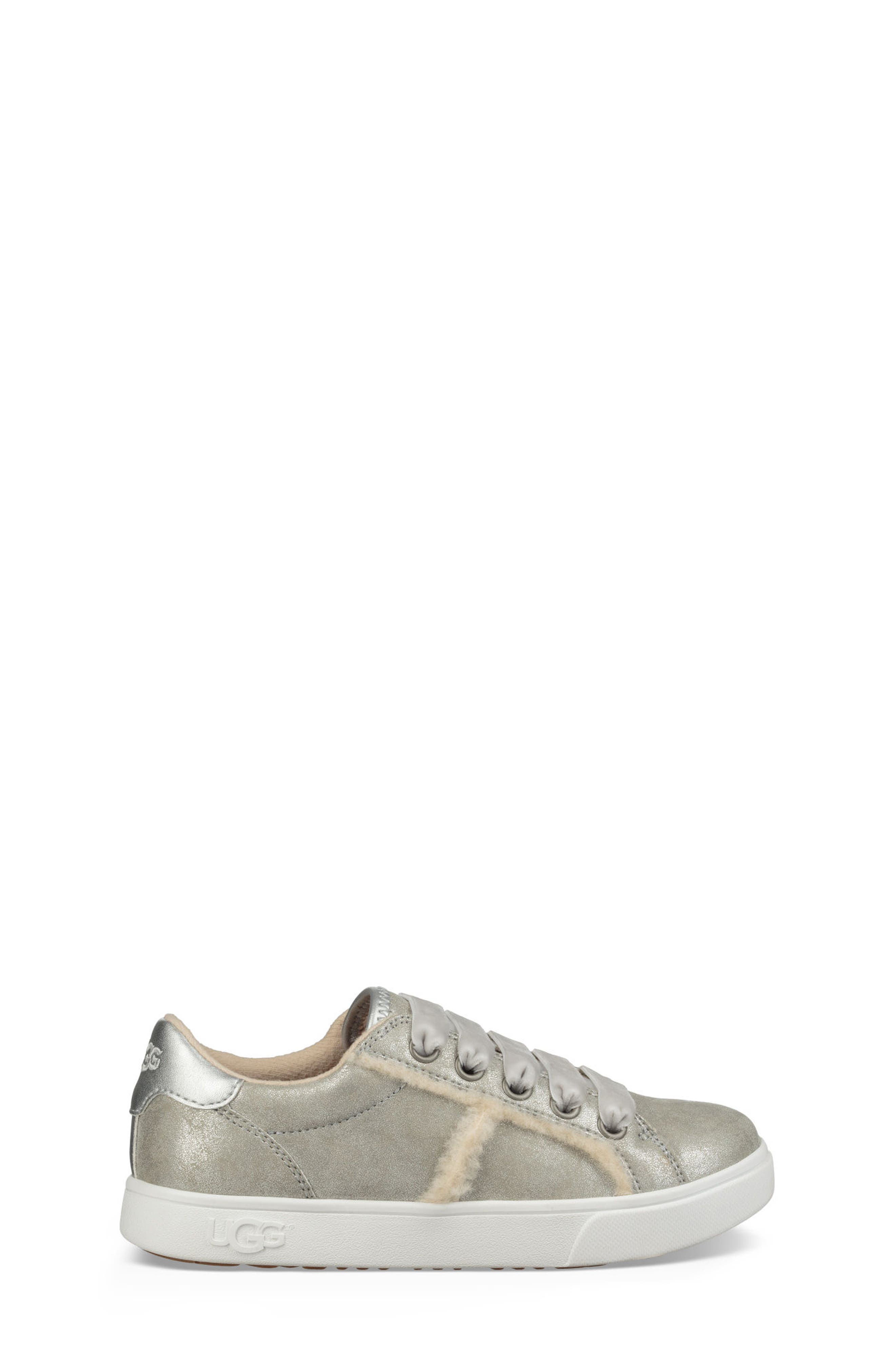 UGG<SUP>®</SUP>, Alanna Low Top Sneaker, Alternate thumbnail 2, color, SILVER