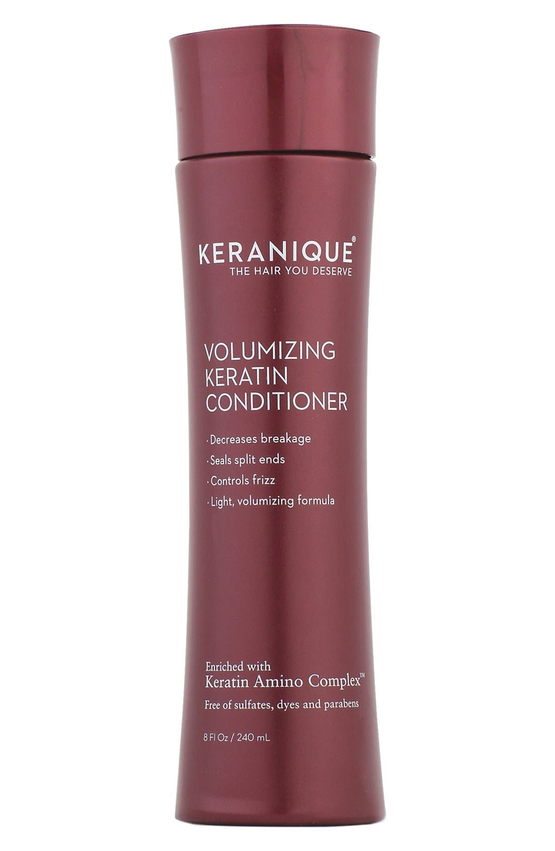 KERANIQUE, Volumizing Keratin Conditioner, Main thumbnail 1, color, NO COLOR