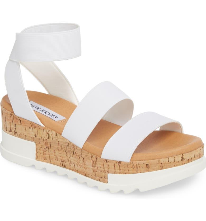 f6ed513930e Steve Madden Bandi Platform Wedge Sandal In White