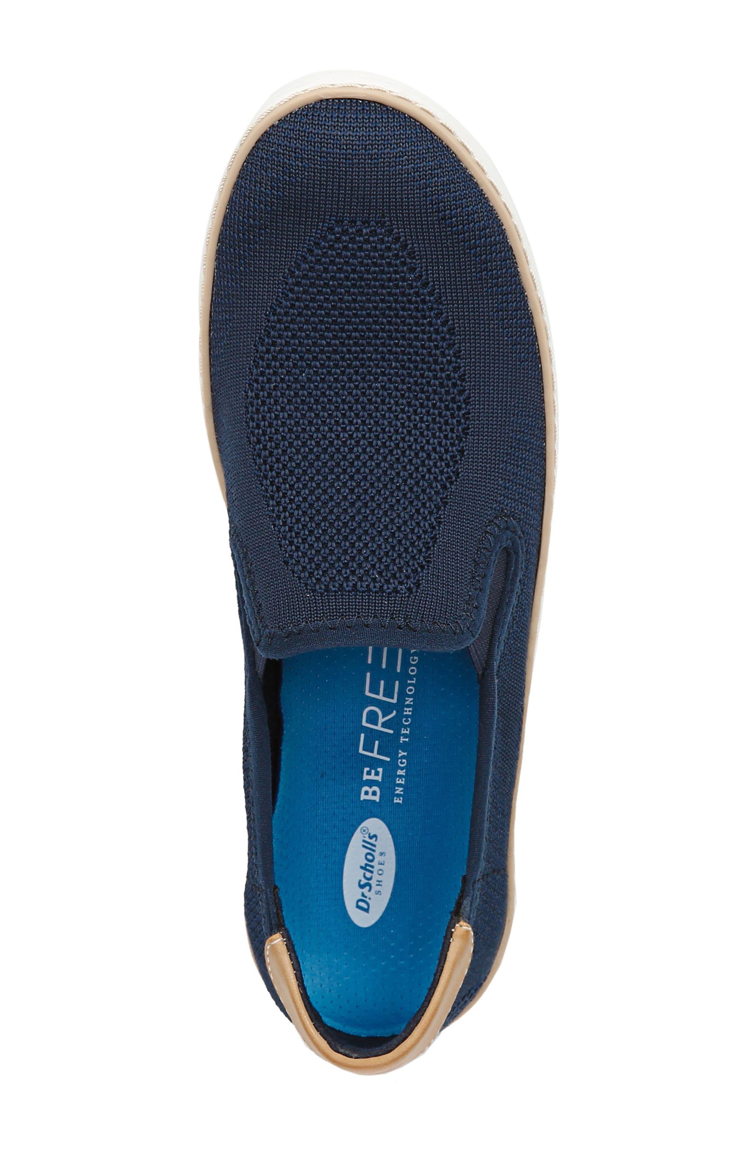DR. SCHOLL'S, Madi Slip-On Sneaker, Alternate thumbnail 5, color, NAVY KNIT FABRIC