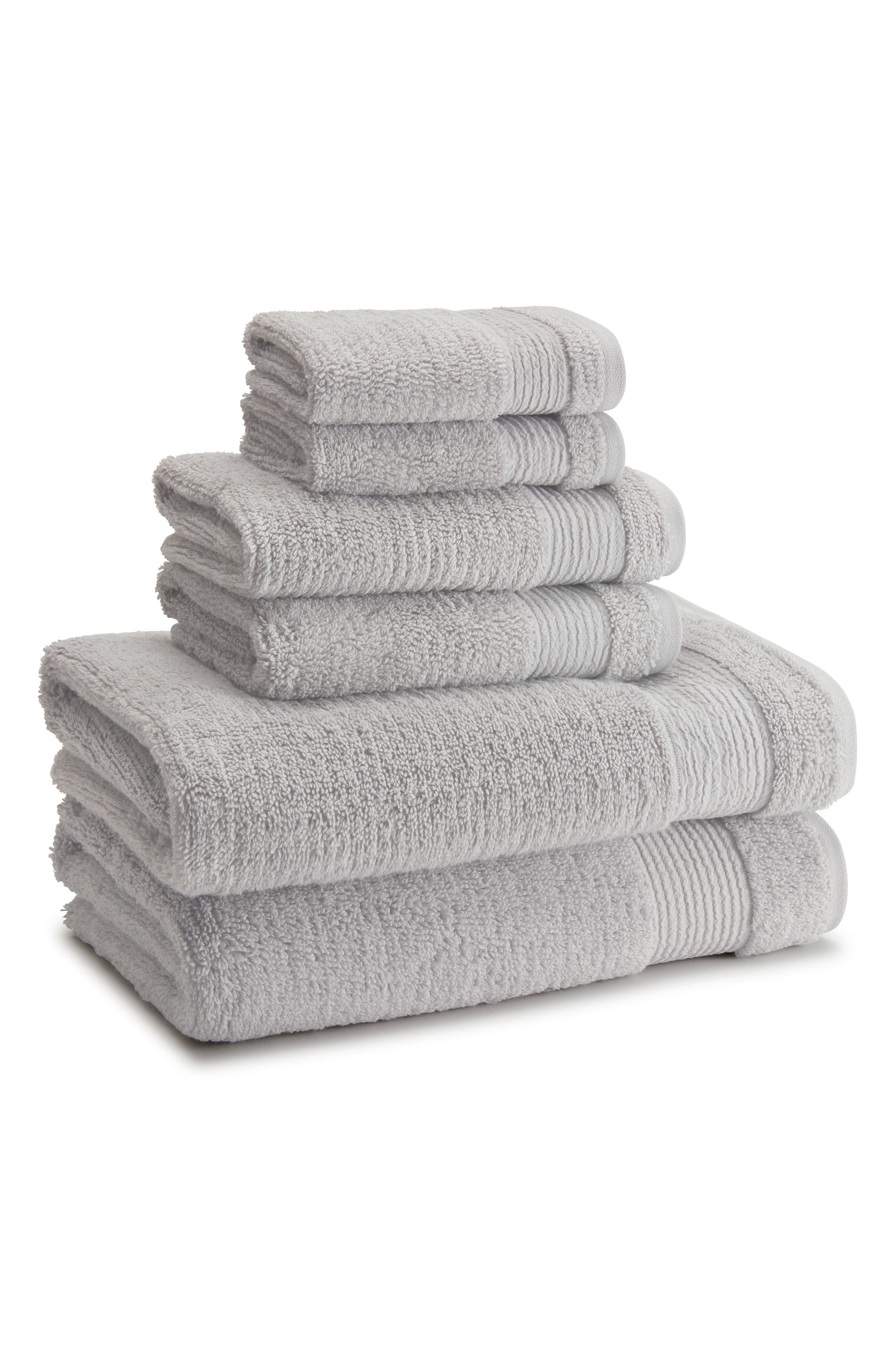 KASSATEX Pergamon Hand Towel, Main, color, PLATINUM