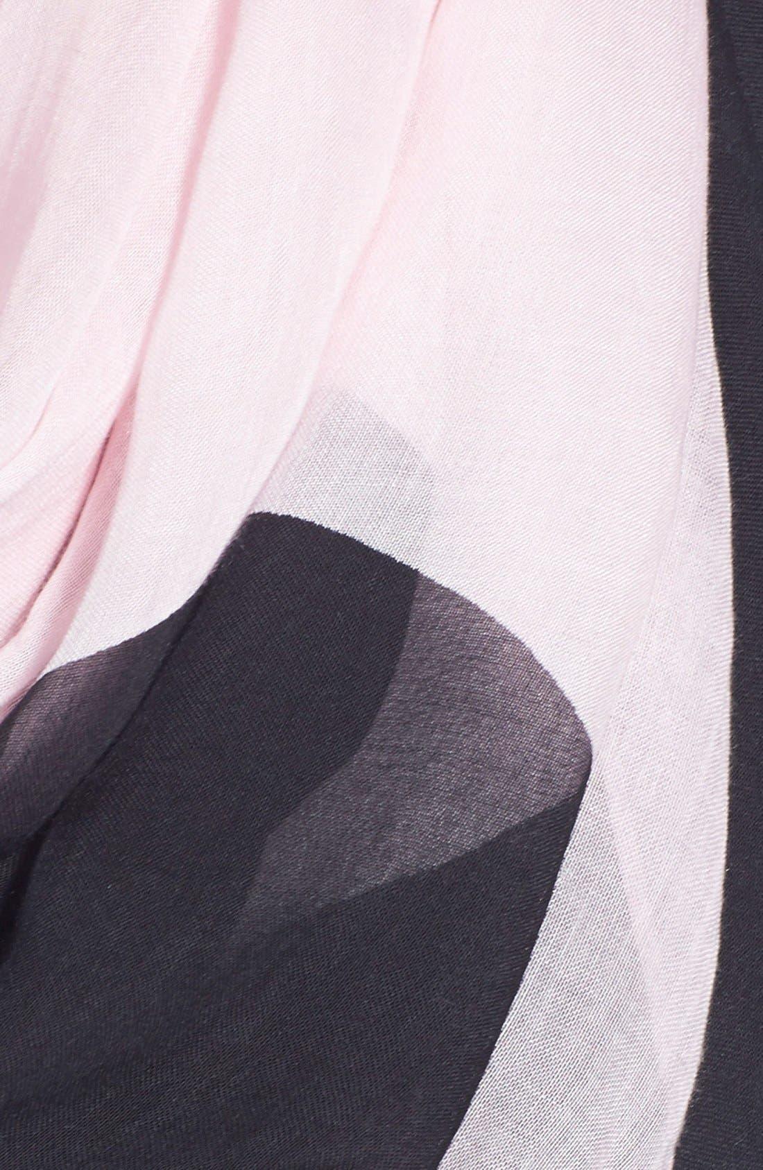 KATE SPADE NEW YORK, 'grand piano' scarf, Alternate thumbnail 2, color, 650
