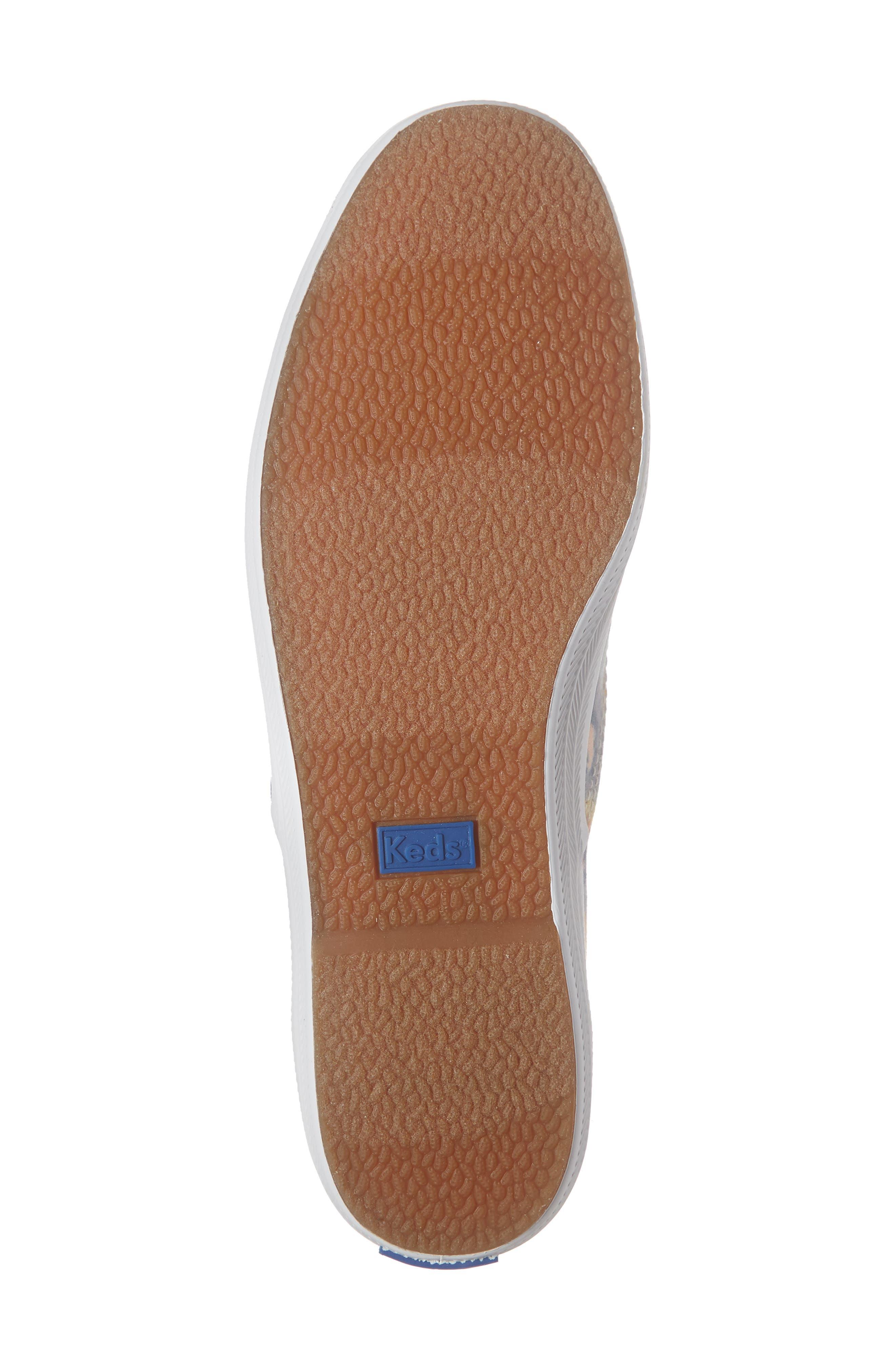 KEDS<SUP>®</SUP>, Champion Tie Dye Sneaker, Alternate thumbnail 6, color, PINK MULTI