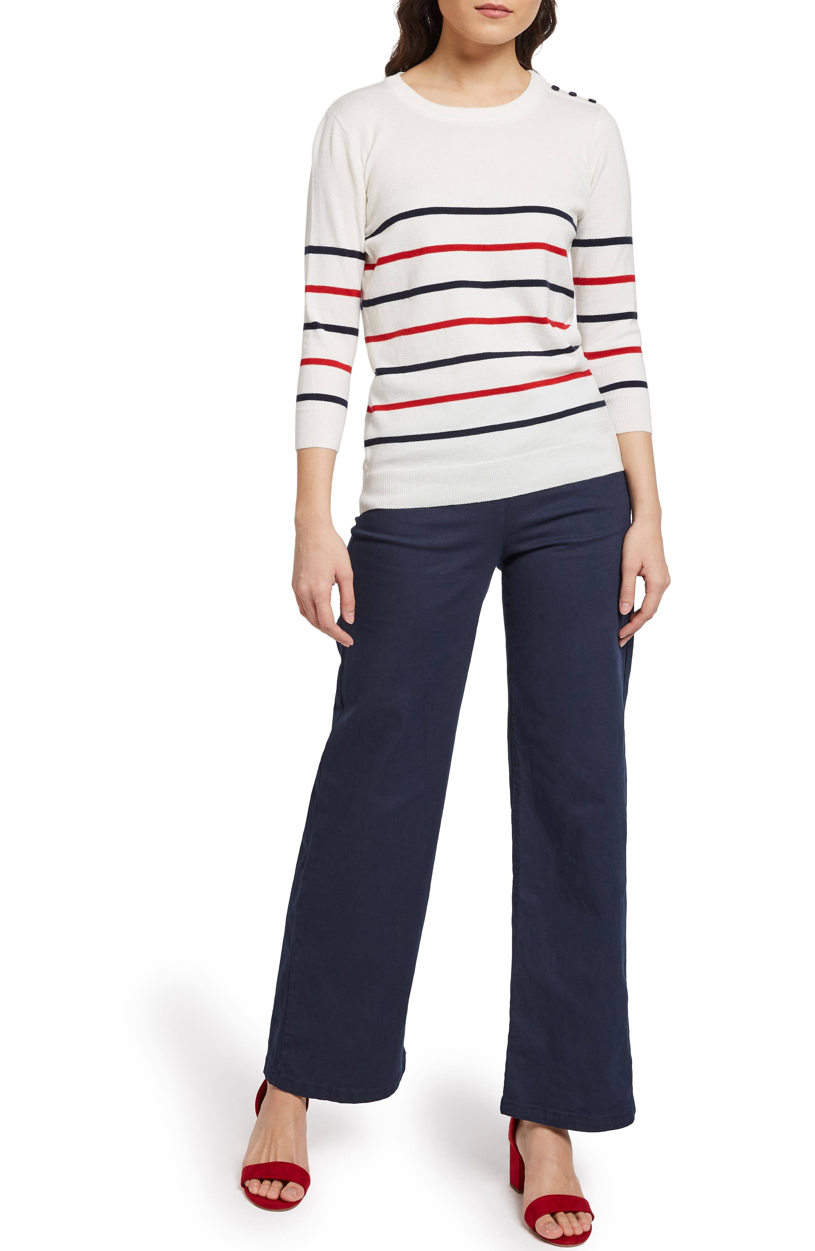 MODCLOTH, Charter School Stripe Sweater, Alternate thumbnail 6, color, 901