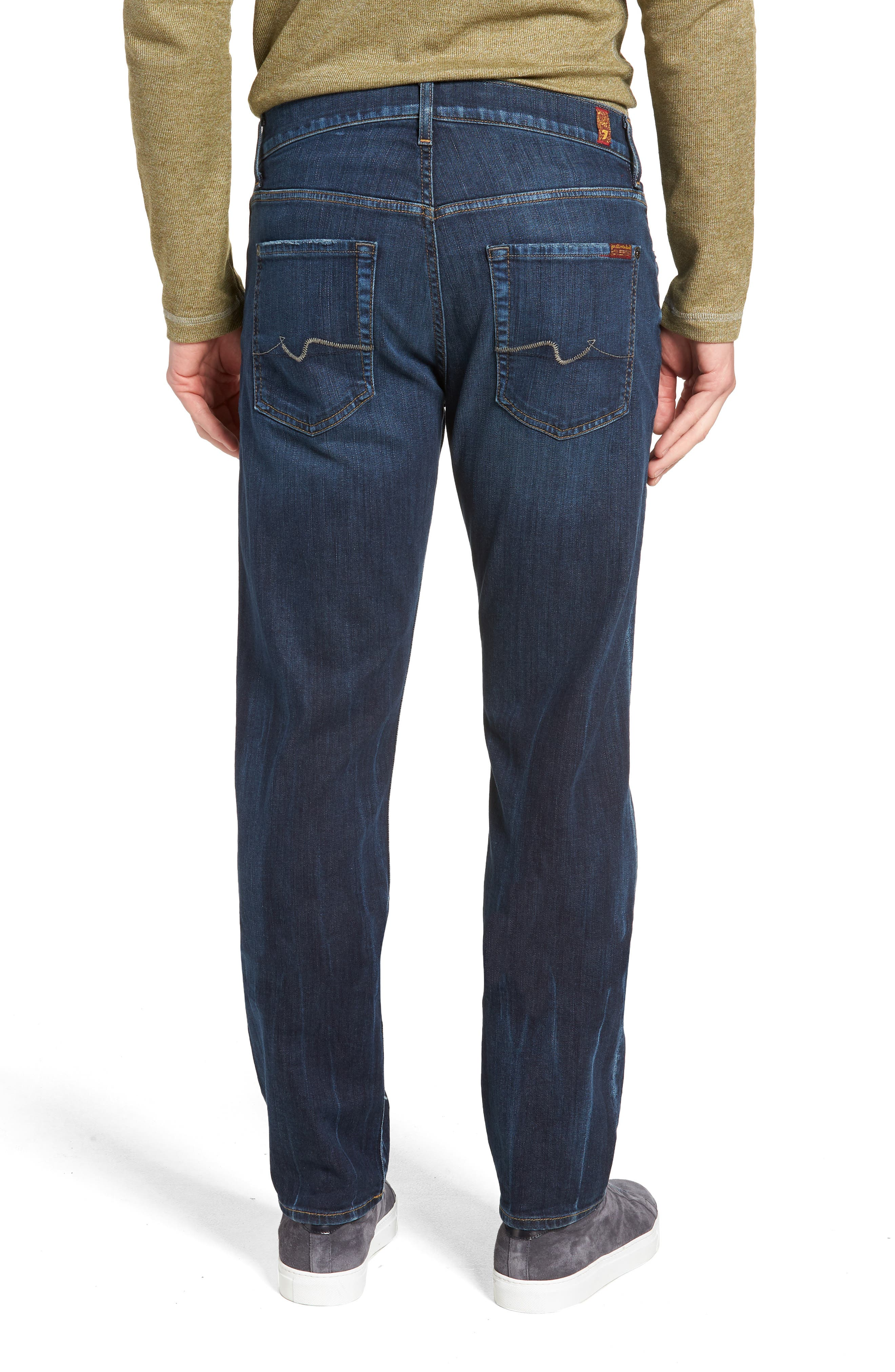 7 FOR ALL MANKIND<SUP>®</SUP>, Luxe Standard Straight Leg Jeans, Alternate thumbnail 2, color, 414