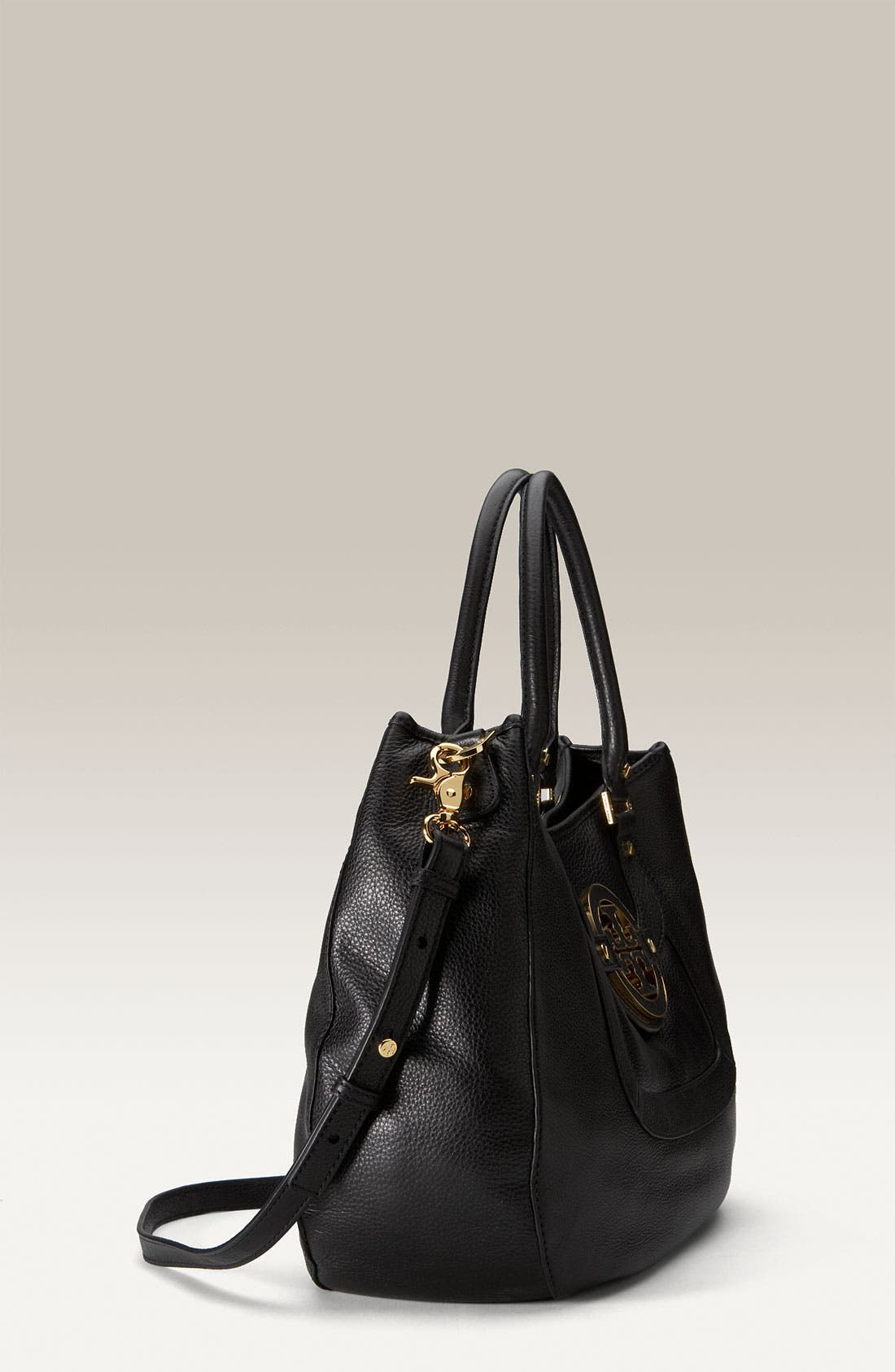 TORY BURCH, 'Amanda' Leather Hobo, Alternate thumbnail 2, color, 001