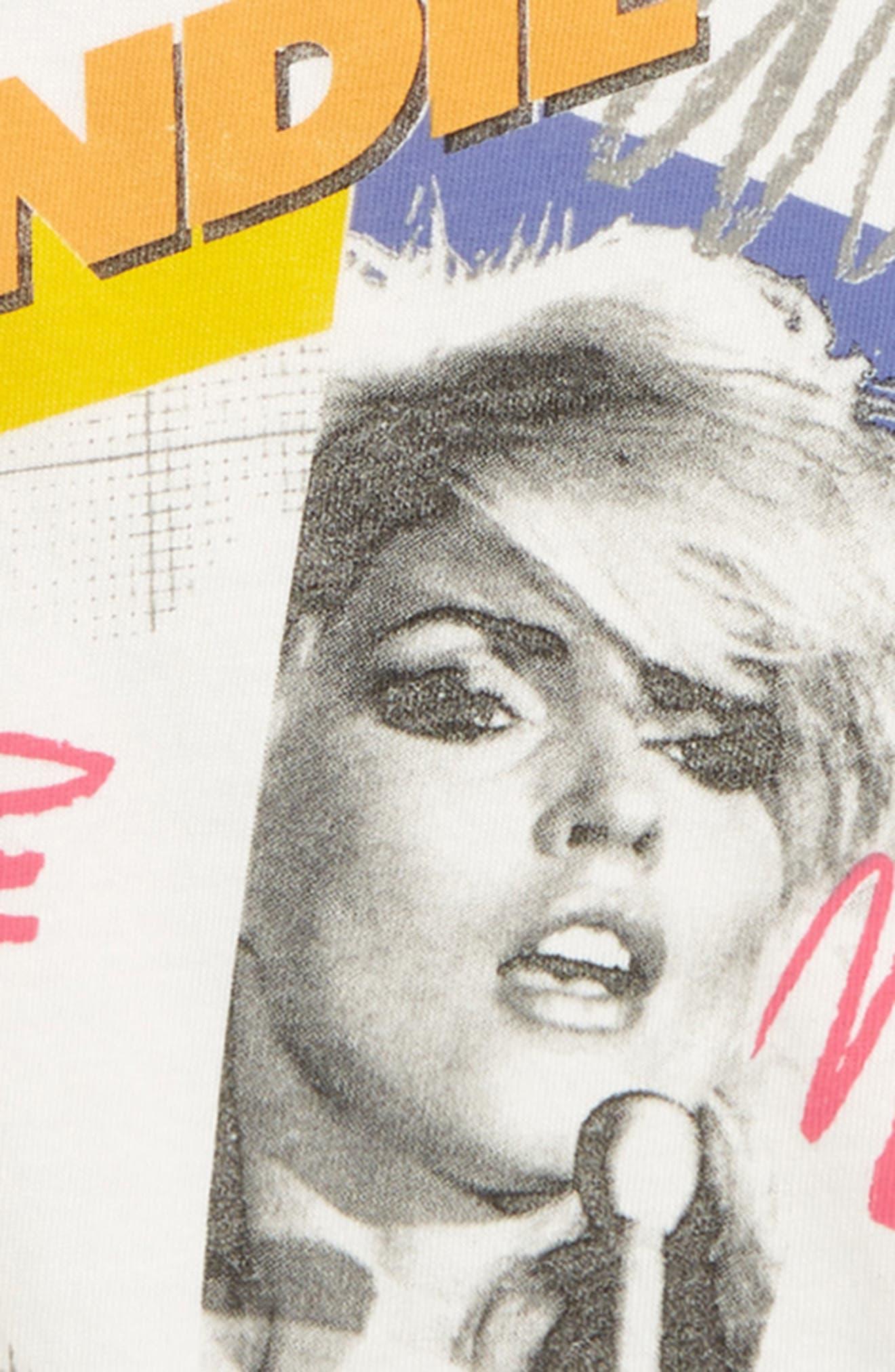JUNK FOOD, Blondie - Heart of Glass Tee, Alternate thumbnail 2, color, VINTAGE WHITE