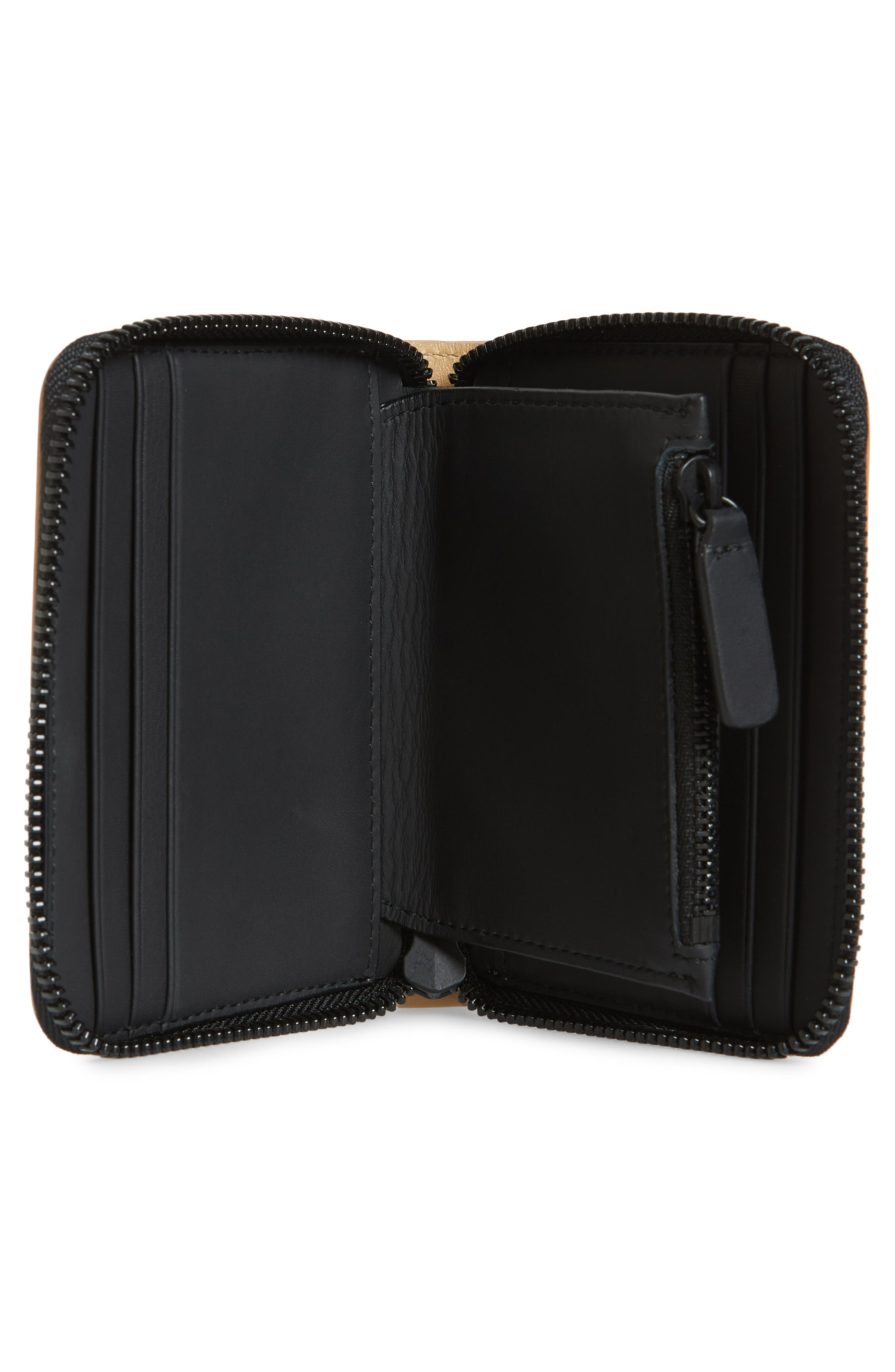 COMMON PROJECTS, Nappa Leather Zip Coin Case, Alternate thumbnail 2, color, TAN