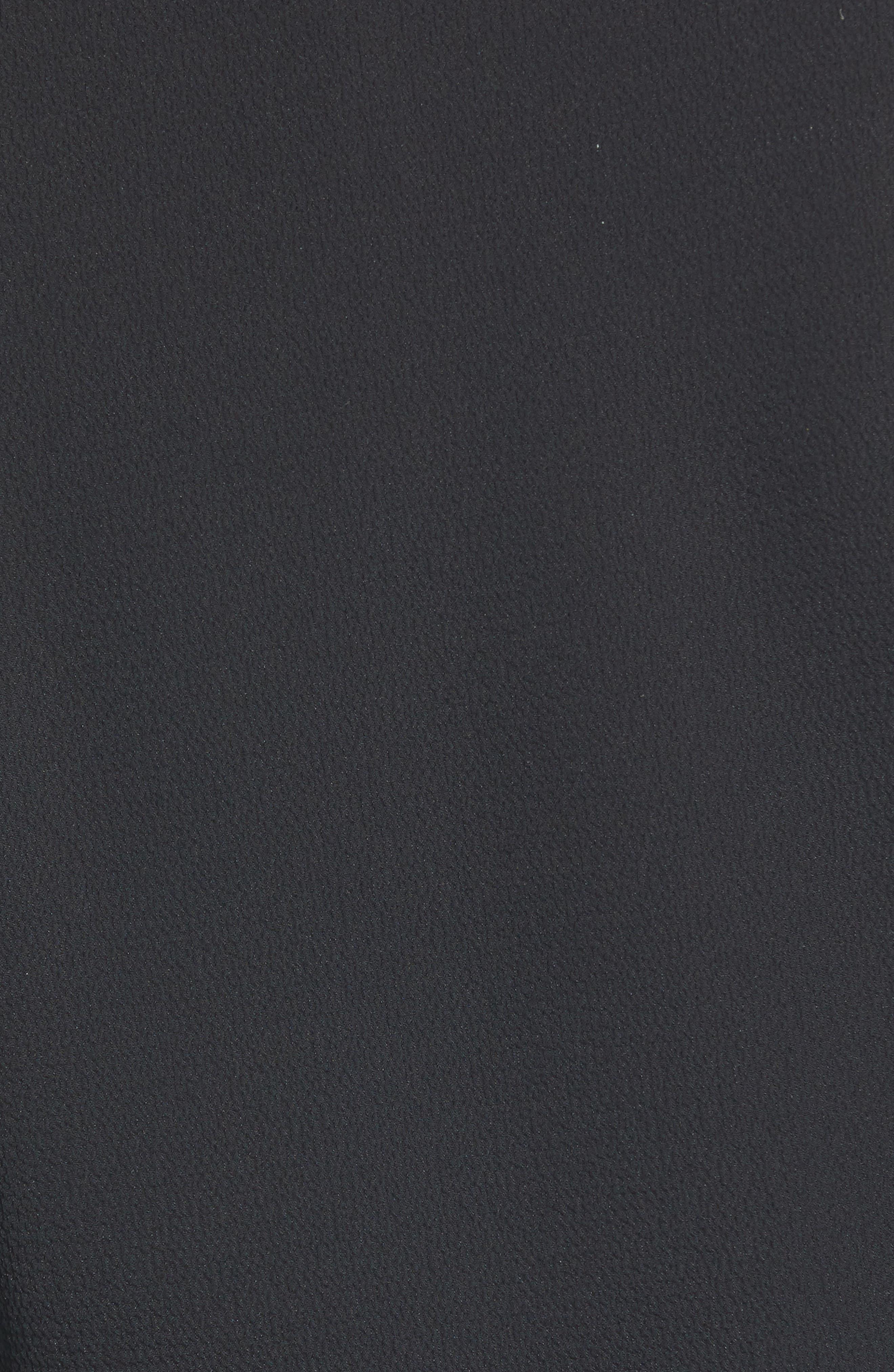 CHELSEA28, Wrap Top, Alternate thumbnail 5, color, BLACK