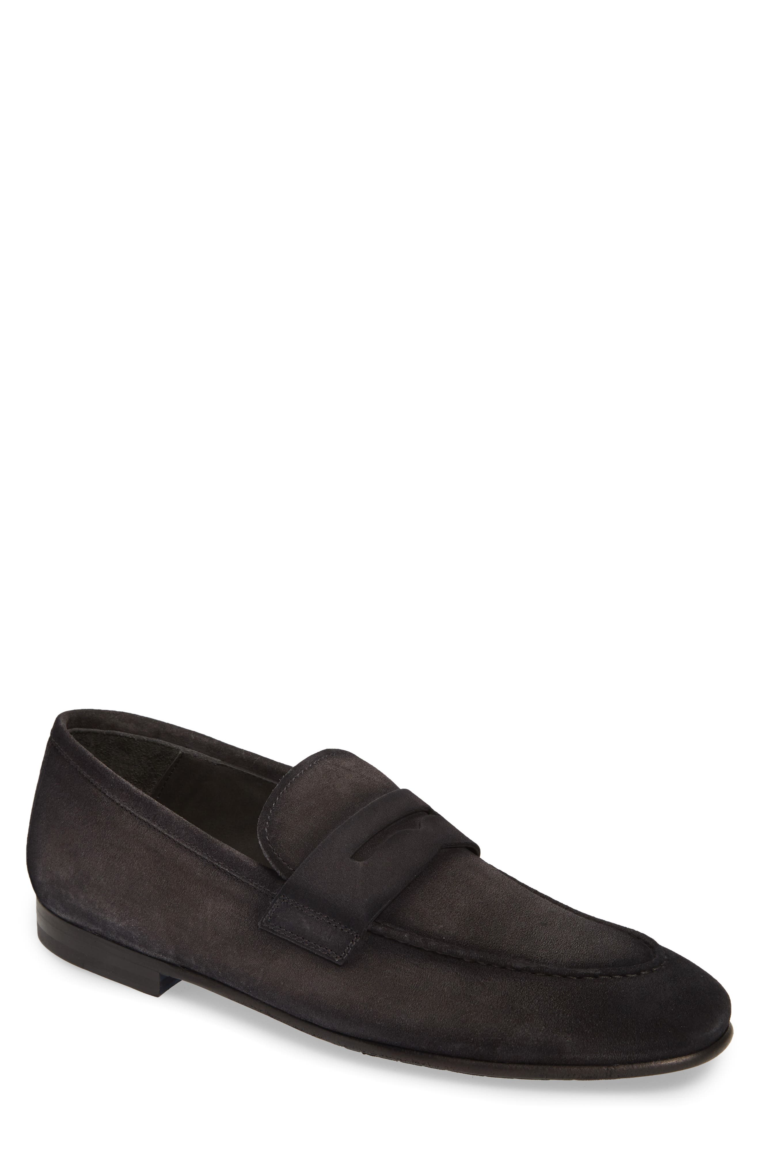 To Boot New York Enzo Apron Toe Penny Loafer- Grey