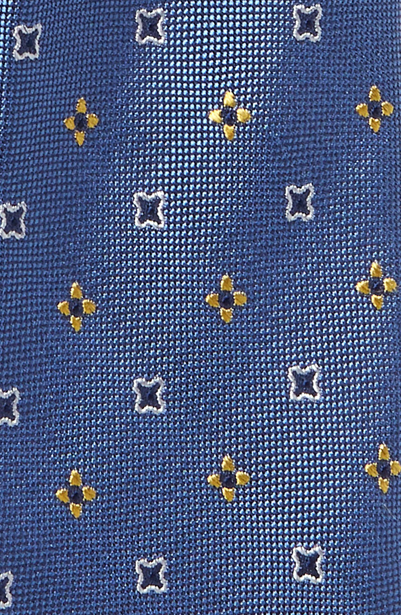 NORDSTROM, Michael Neat Silk Tie, Alternate thumbnail 2, color, YELLOW