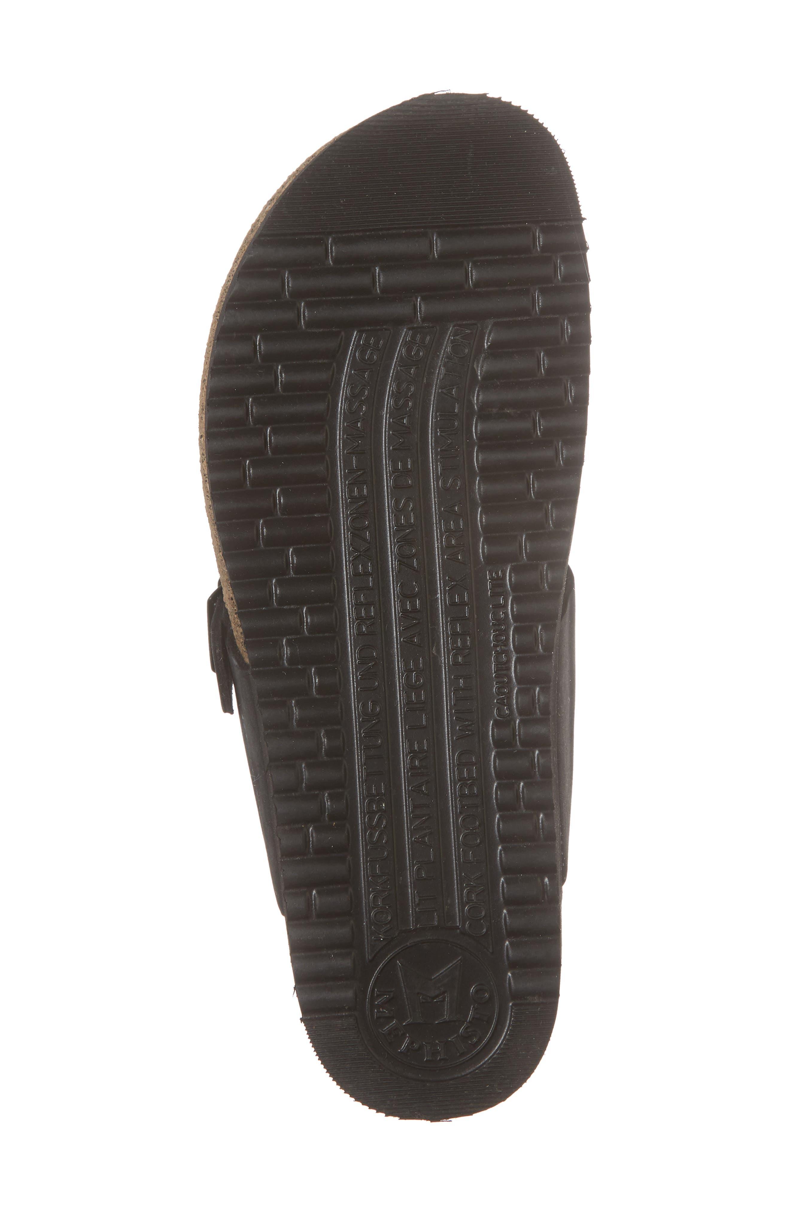 MEPHISTO, 'Helen' Sandal, Alternate thumbnail 6, color, BLACK NUBUCK