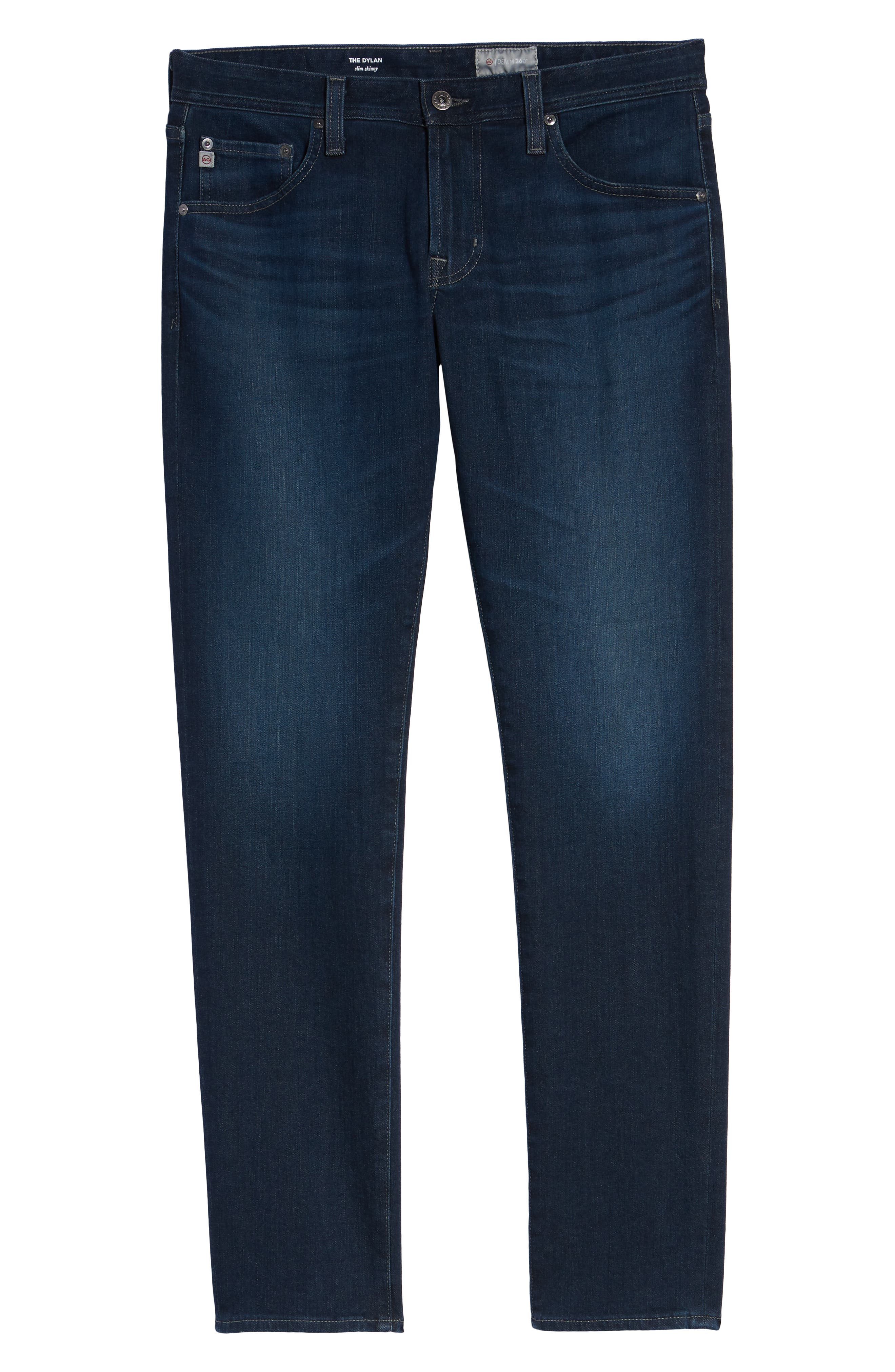 AG, Dylan Skinny Fit Jeans, Alternate thumbnail 7, color, BURROUGHS