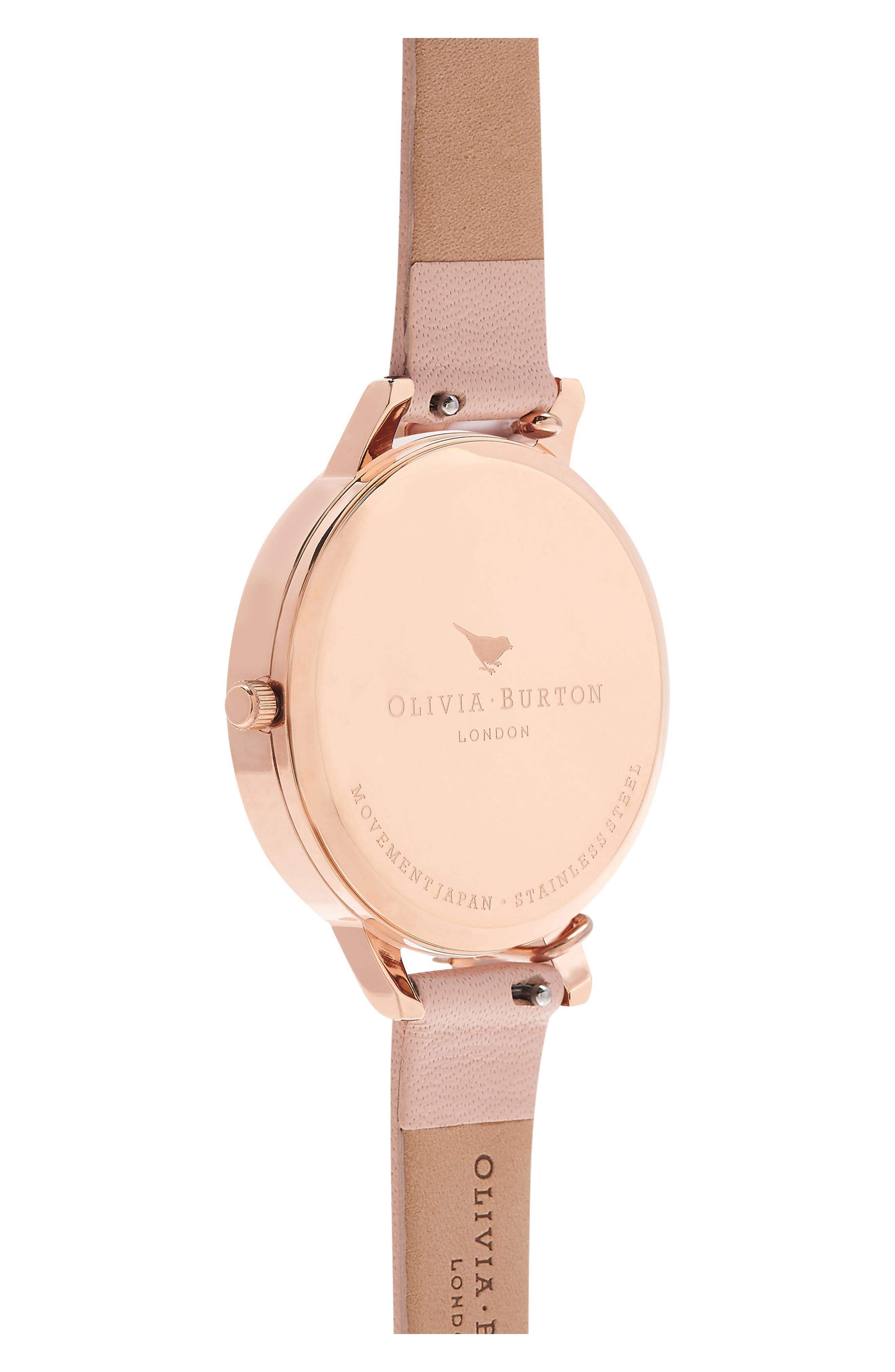 OLIVIA BURTON, Case Cuff Leather Strap Watch, 38mm, Alternate thumbnail 2, color, ROSE GOLD