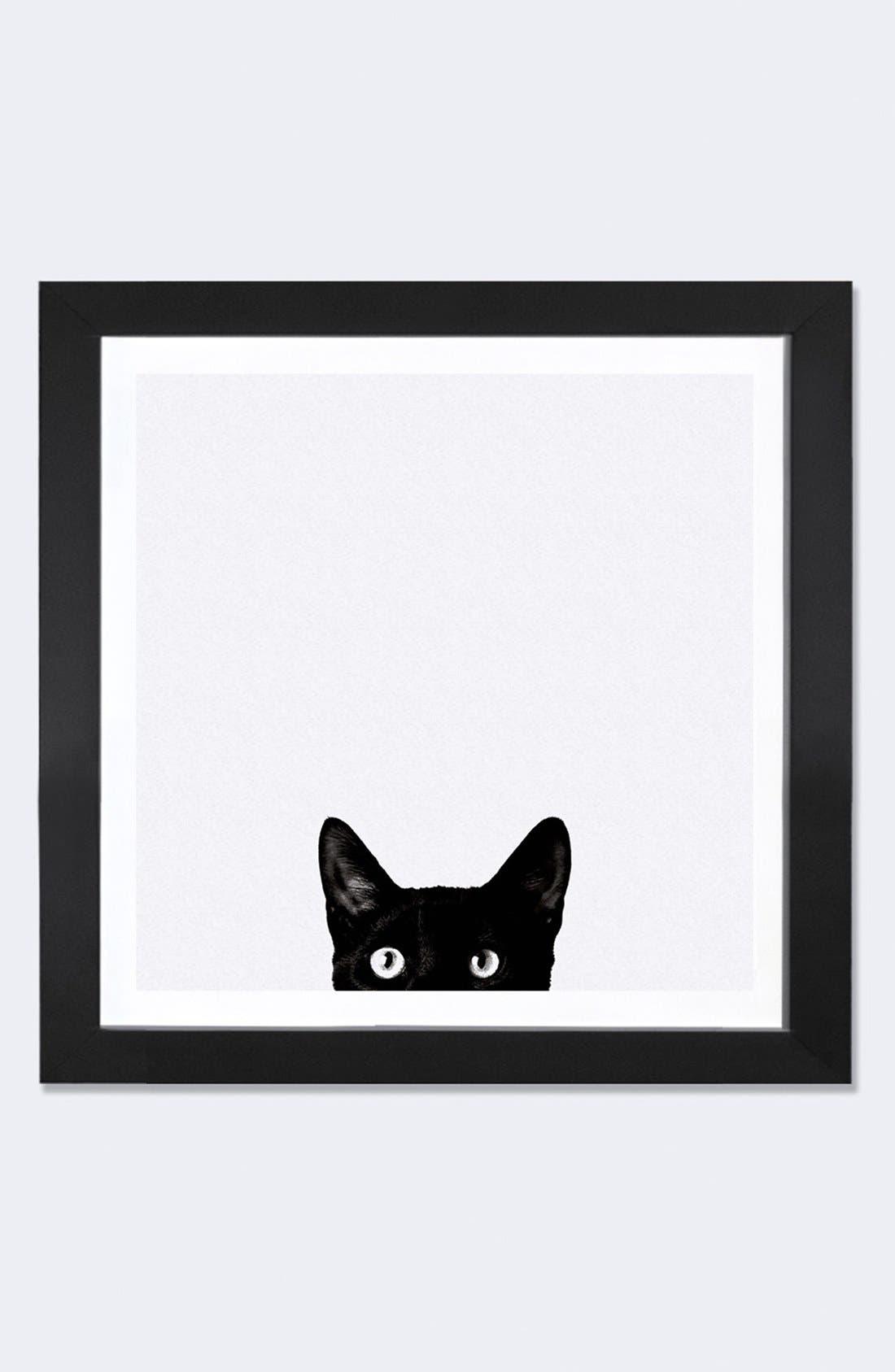 ICANVAS, 'Curiosity' Framed Fine Art Print, Main thumbnail 1, color, WHITE