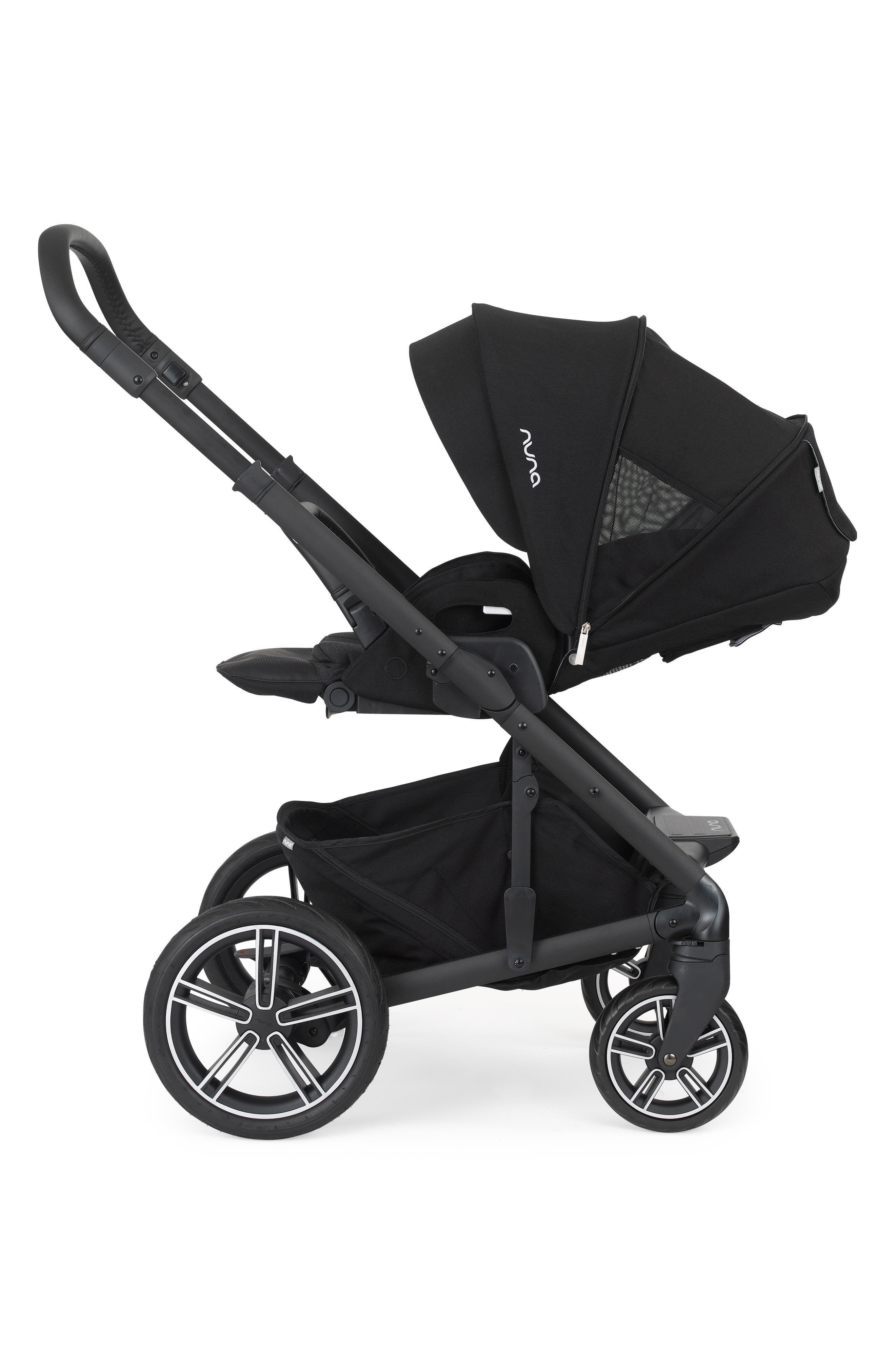 NUNA, MIXX 2 Stroller & Bassinet Set, Alternate thumbnail 9, color, CAVIAR