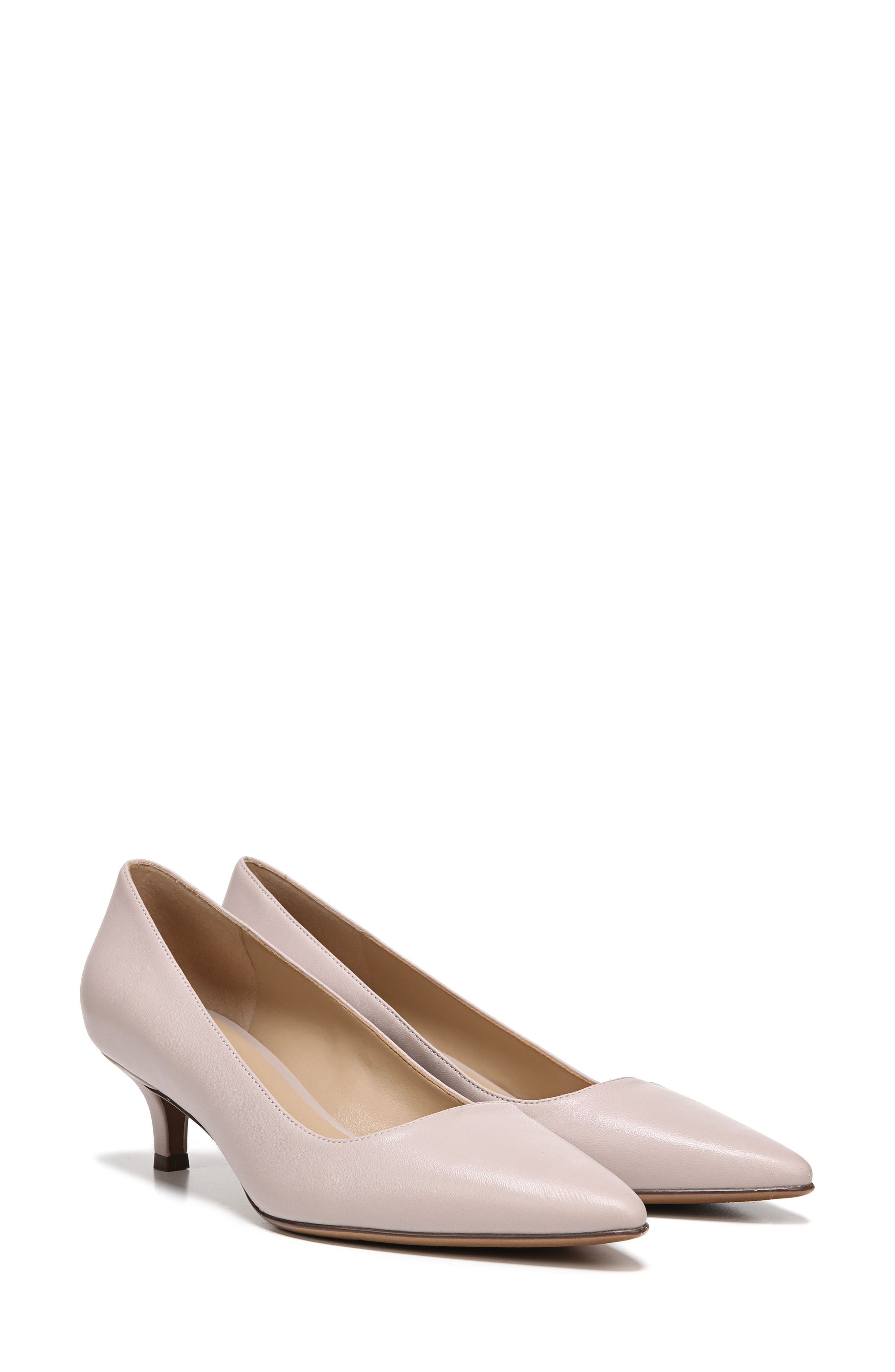 NATURALIZER, Pippa Pump, Alternate thumbnail 7, color, GREY LEATHER