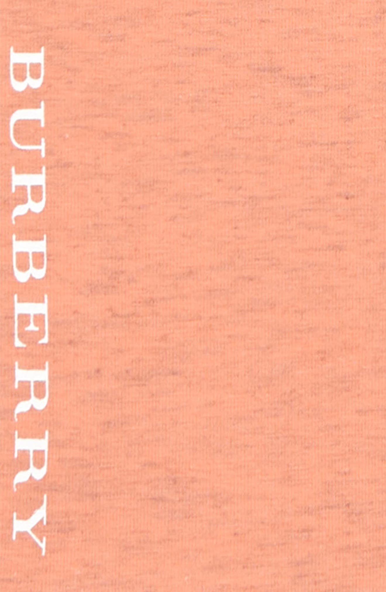 BURBERRY, Penny Logo Leggings, Alternate thumbnail 2, color, PALE PINK