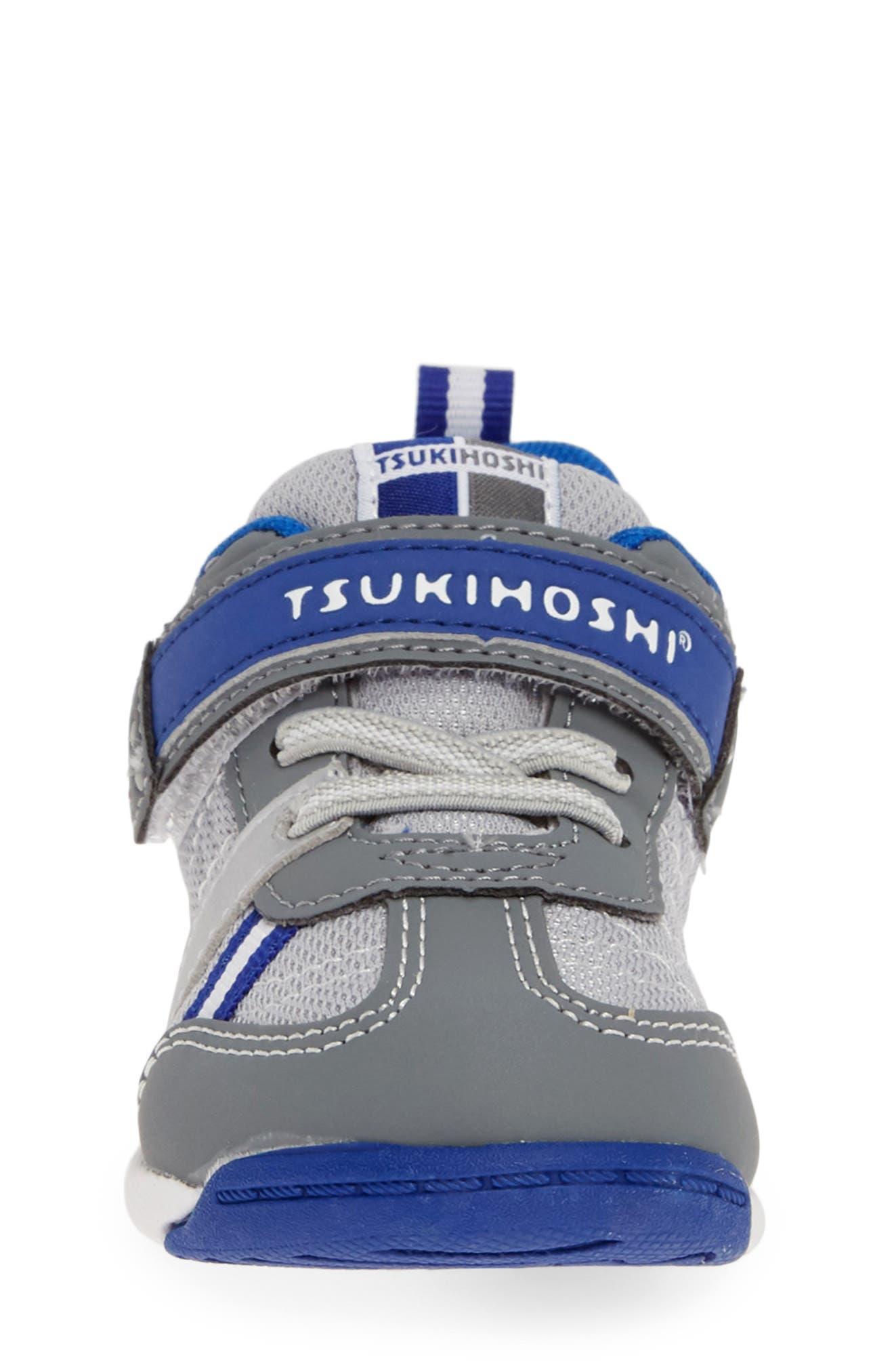 TSUKIHOSHI, Kaz Washable Sneaker, Alternate thumbnail 4, color, GRAY/ ROYAL