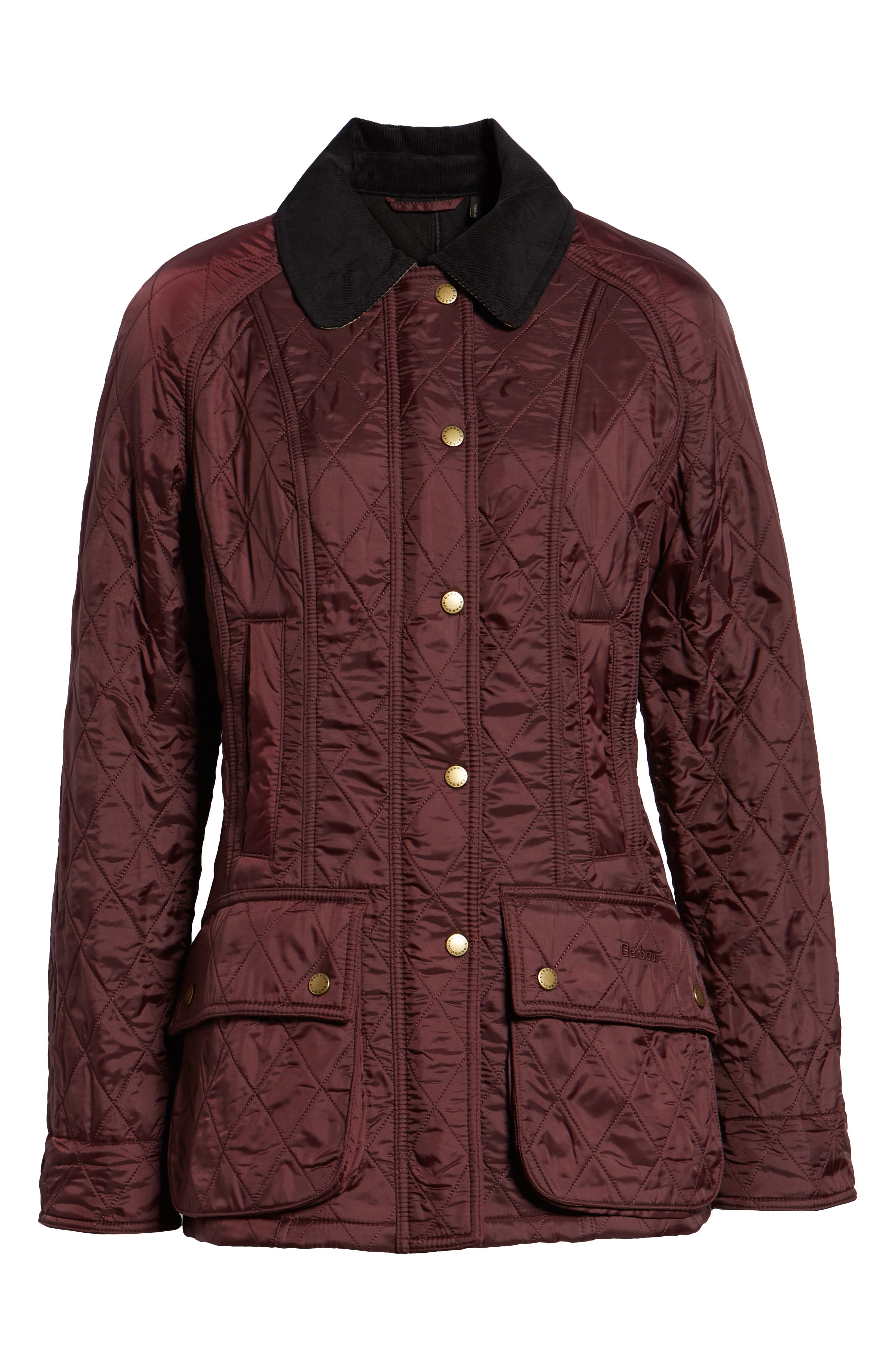 BARBOUR, 'Beadnell' Quilted Jacket, Alternate thumbnail 6, color, 930