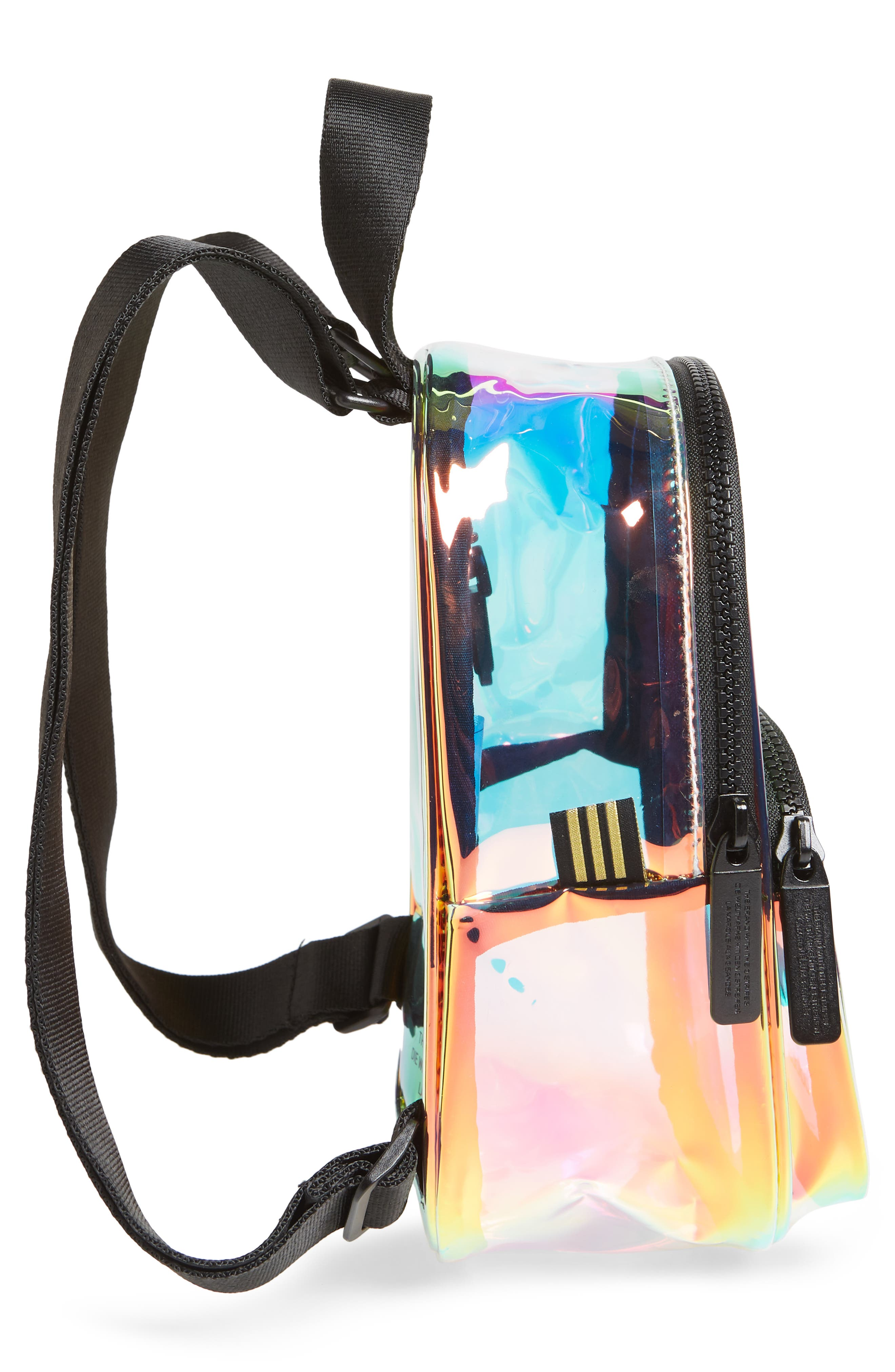 ADIDAS, Ori Mini Holographic Clear Backpack, Alternate thumbnail 6, color, 710