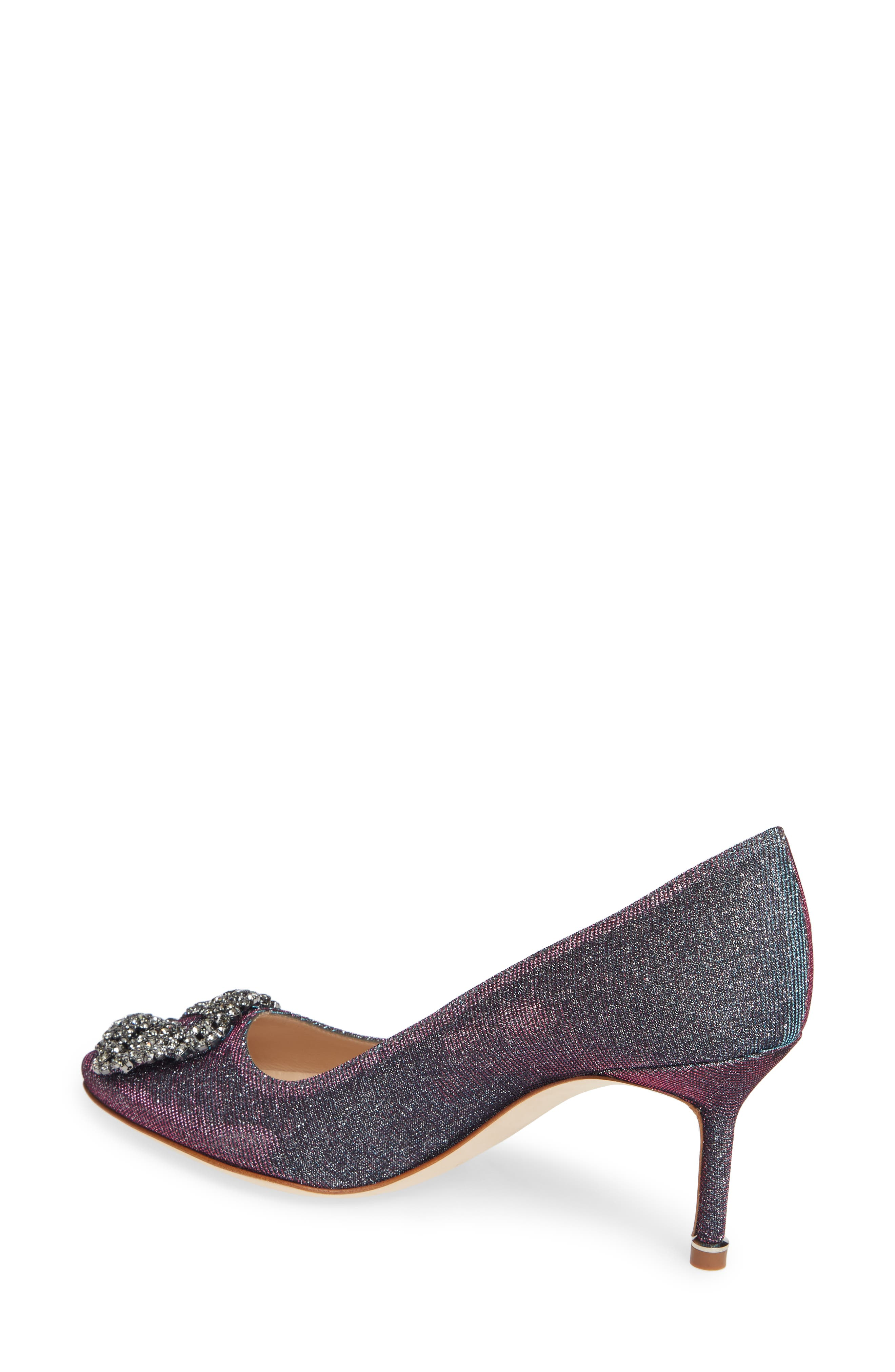 MANOLO BLAHNIK, Hangisi Pump, Alternate thumbnail 2, color, MIDNIGHT BLUE