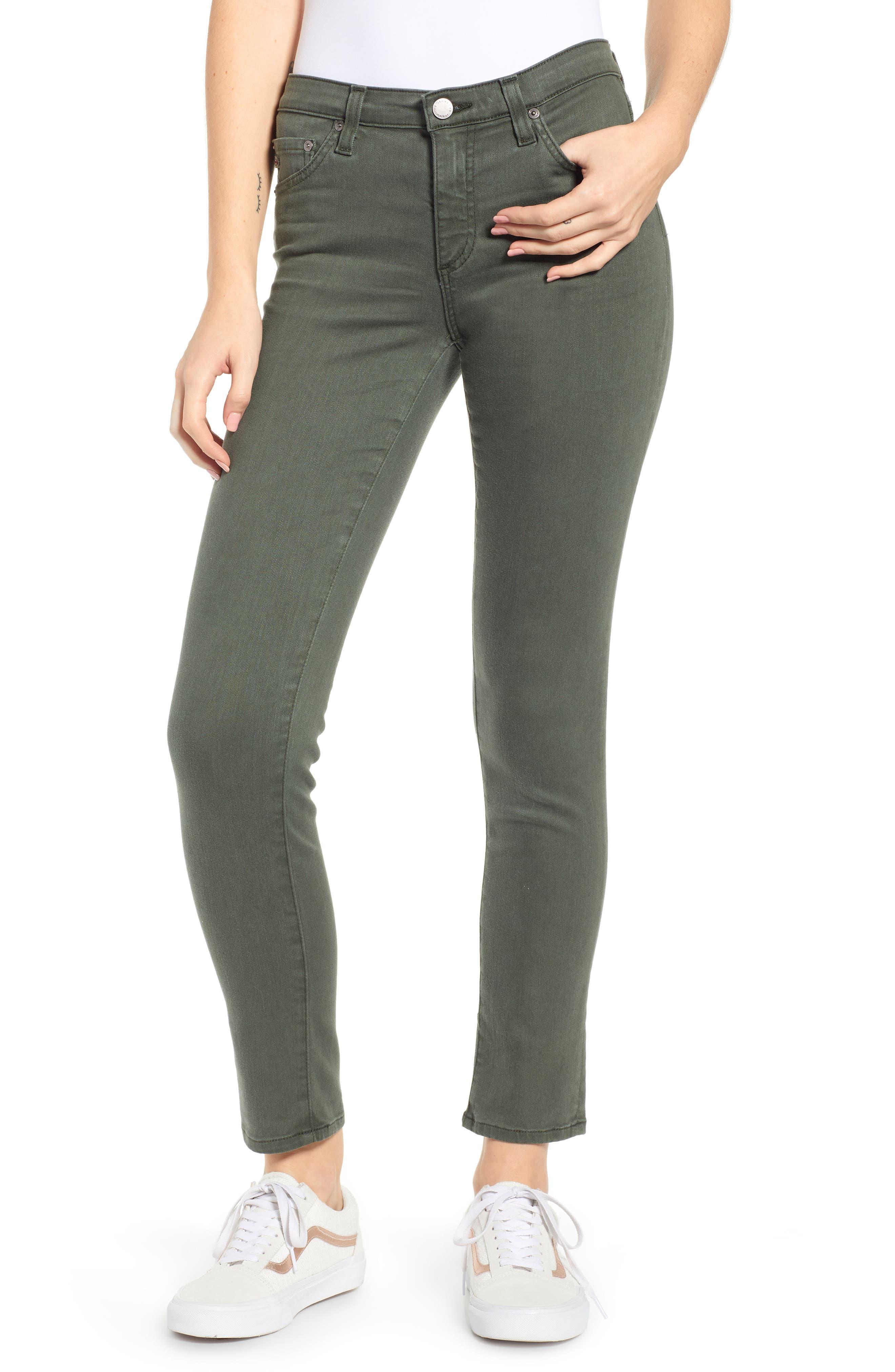 AG, The Prima Ankle Cigarette Jeans, Main thumbnail 1, color, 01Y SULFUR ASH GREEN