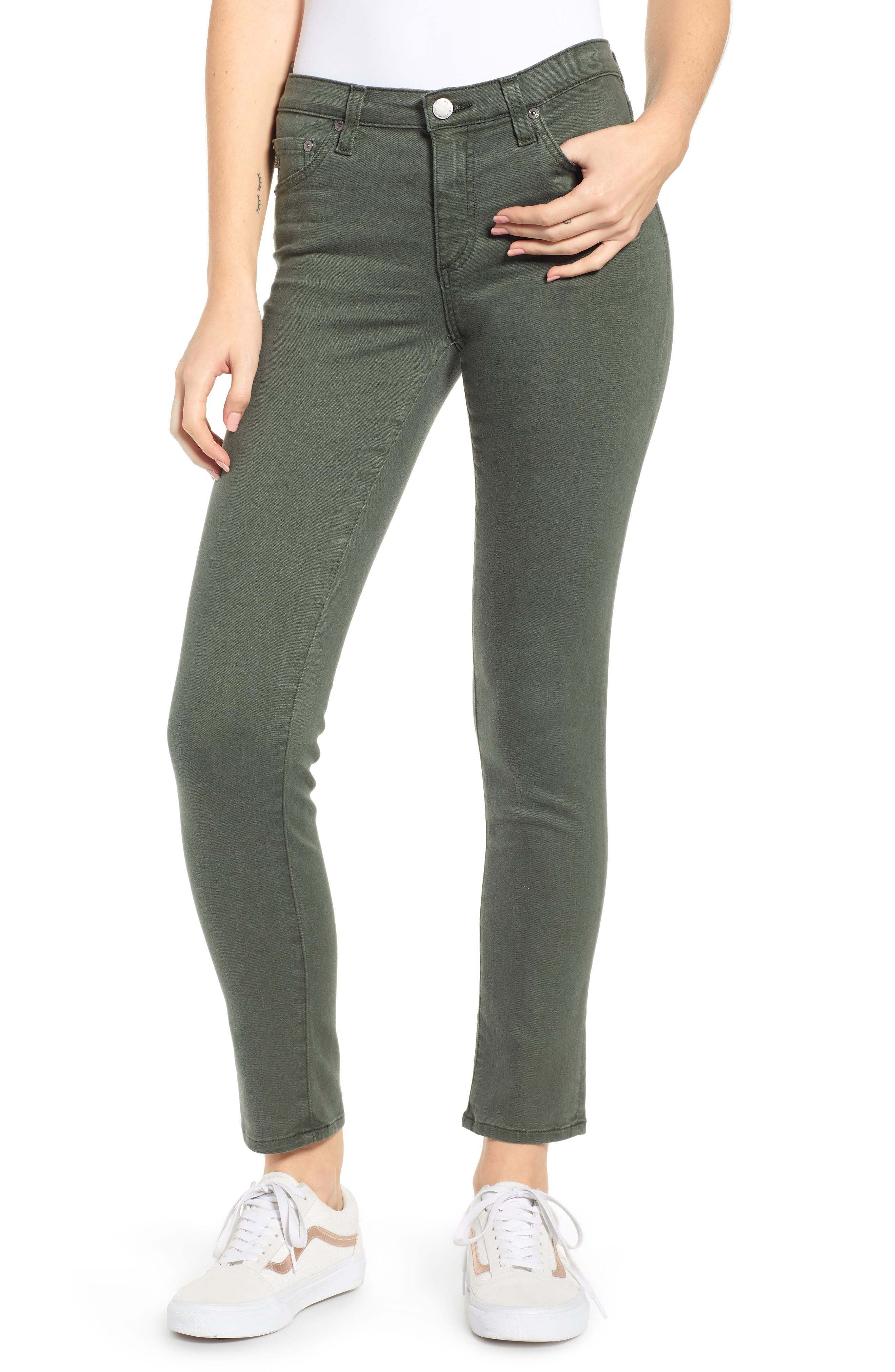 AG The Prima Ankle Cigarette Jeans, Main, color, 01Y SULFUR ASH GREEN