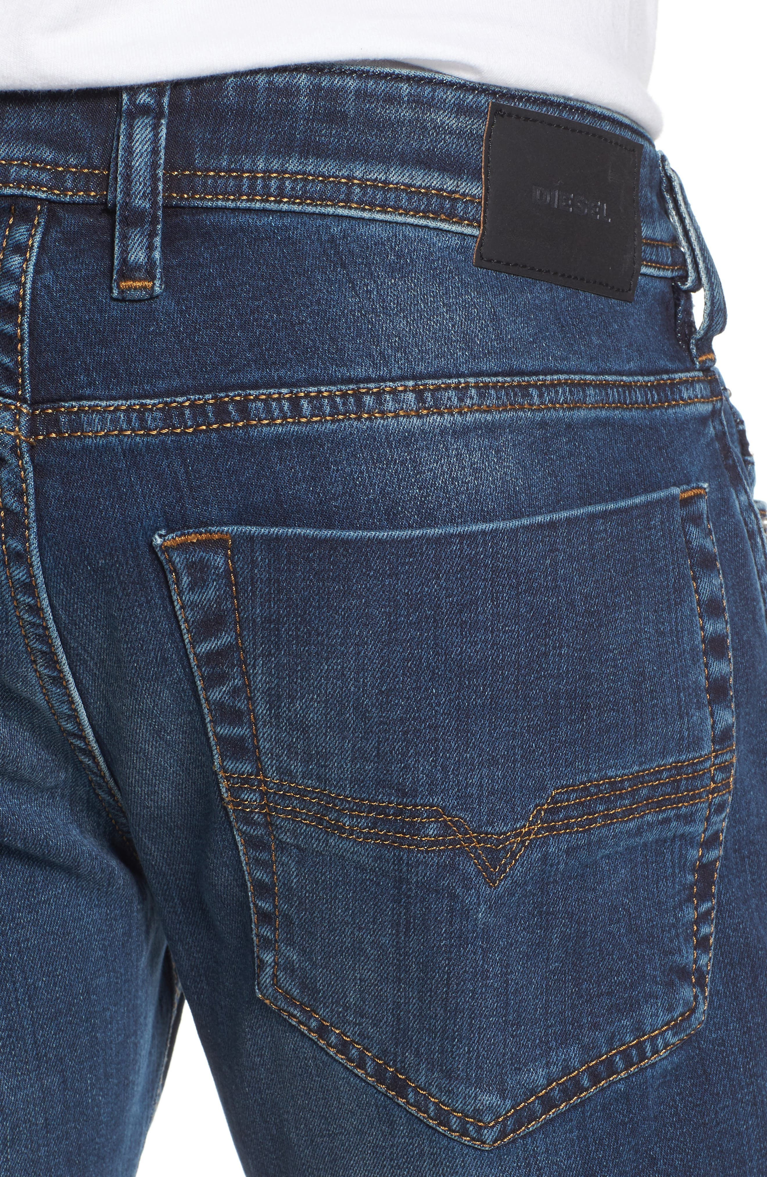 DIESEL<SUP>®</SUP>, Zatiny Bootcut Jeans, Alternate thumbnail 5, color, 084BU