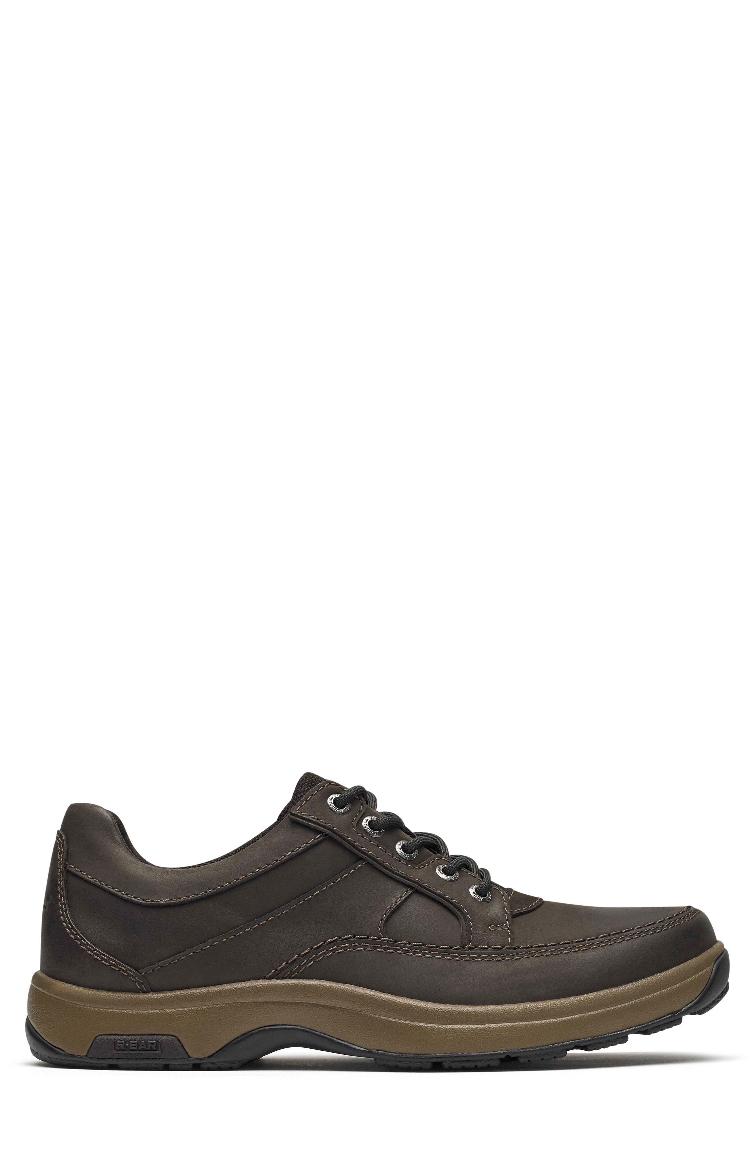 DUNHAM, 'Midland' Sneaker, Alternate thumbnail 3, color, BROWN LEATHER