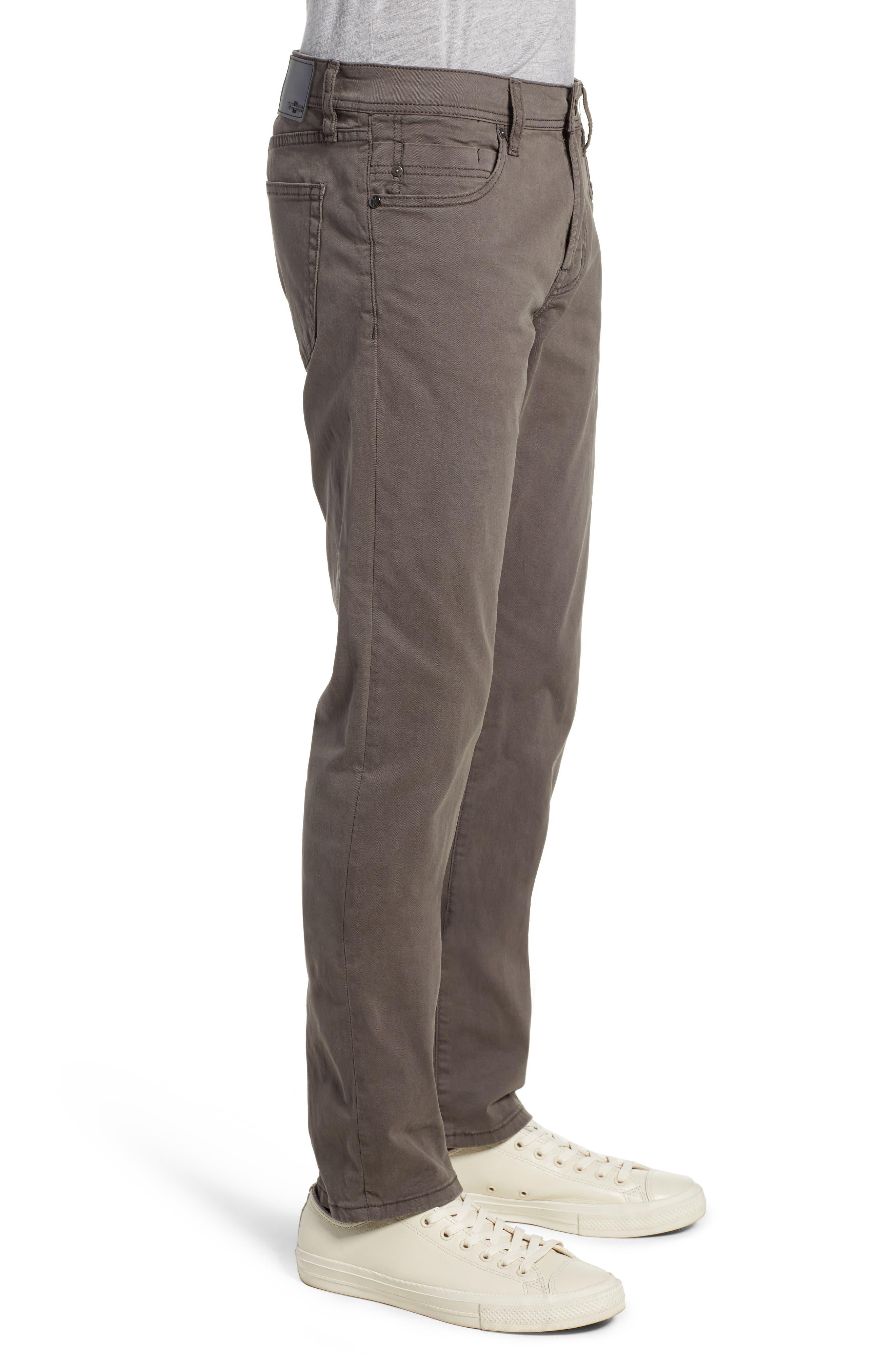 LIVERPOOL, Kingston Modern Straight Leg Twill Pants, Alternate thumbnail 3, color, OCEAN STORM