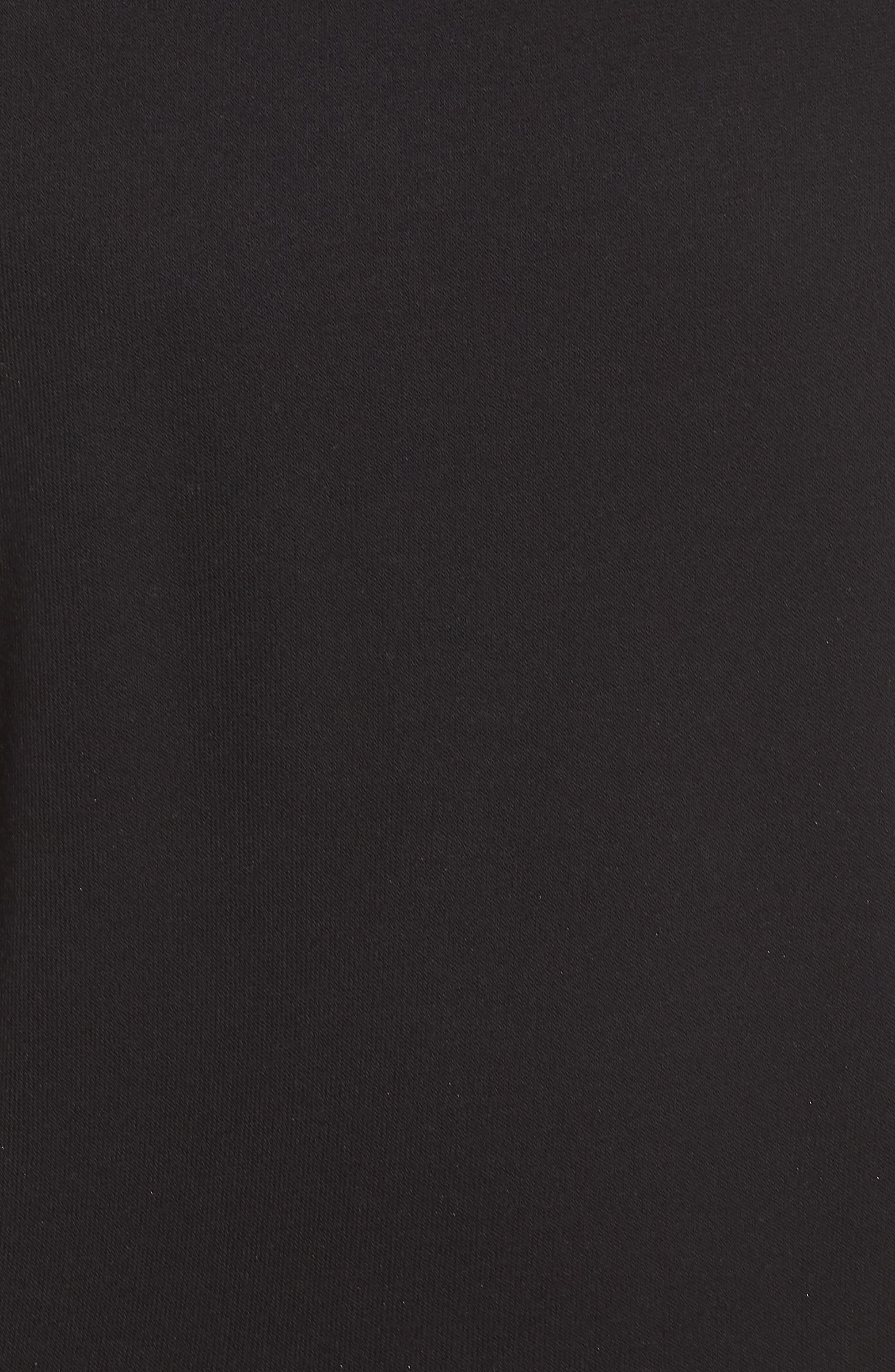ALO, Clarity Long Sleeve Sweatshirt, Alternate thumbnail 6, color, BLACK