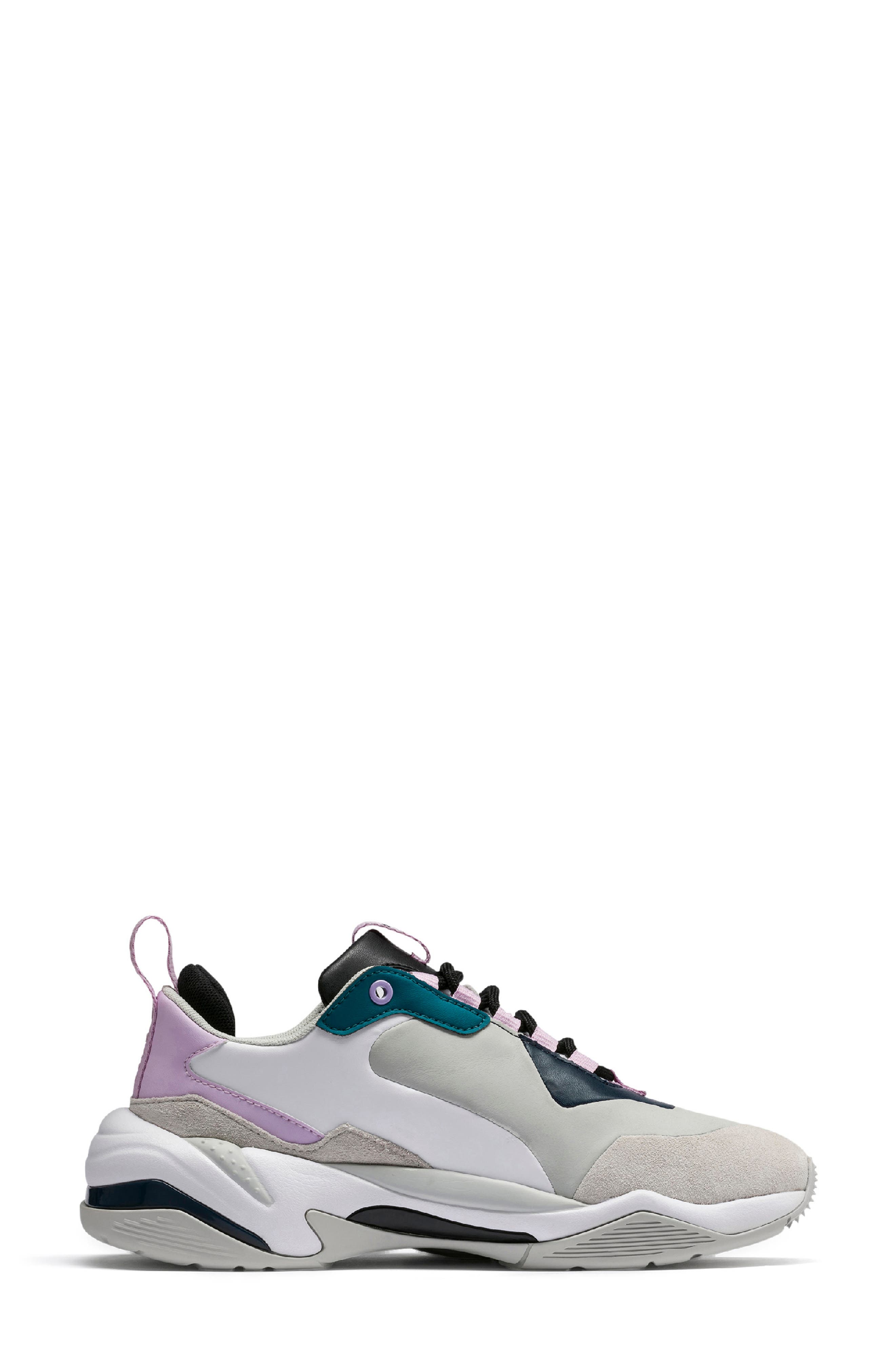 PUMA, Thunder Electric Sneaker, Alternate thumbnail 3, color, DEEP LAGOON/ ORCHID BLOOM