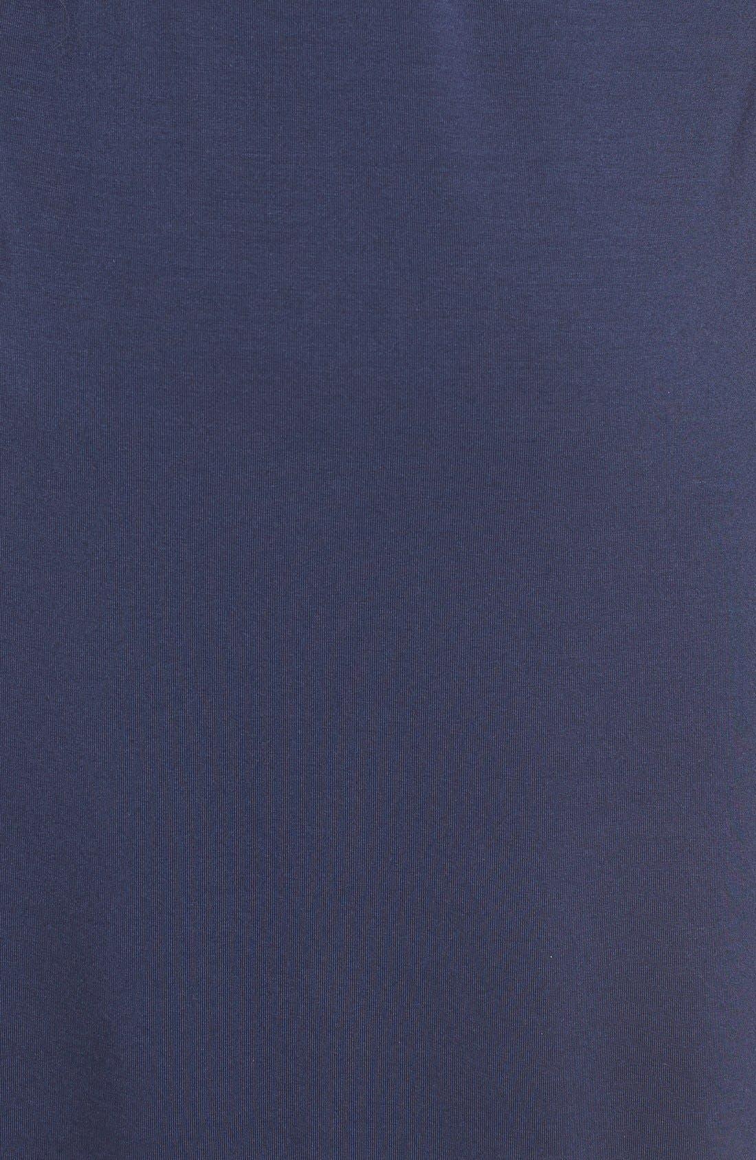 TART MATERNITY, 'Rhiannon' Turtleneck Fit & Flare Maternity Dress, Alternate thumbnail 3, color, PEACOAT
