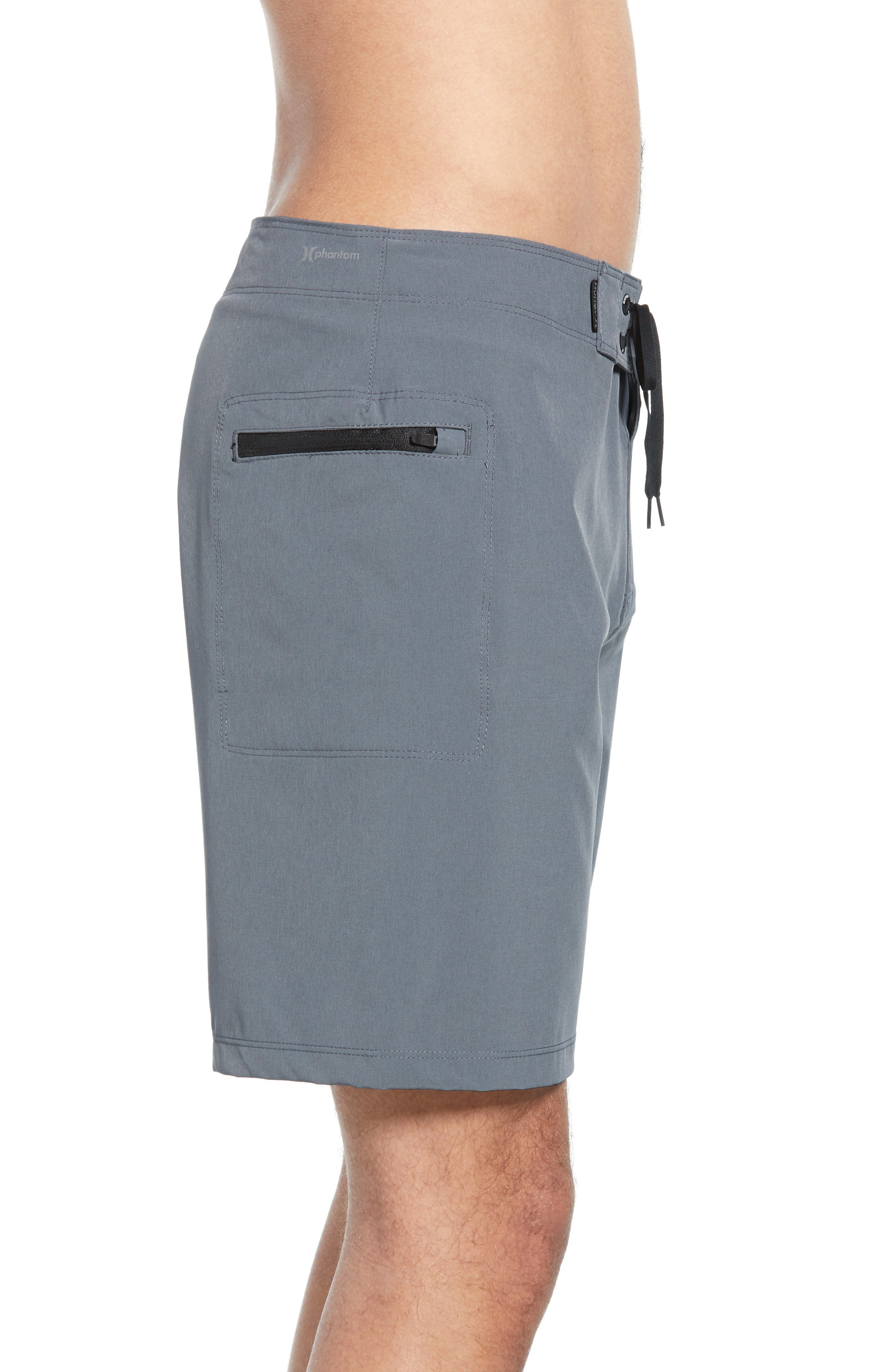 HURLEY, Phantom One & Only Board Shorts, Alternate thumbnail 3, color, COOL GREY