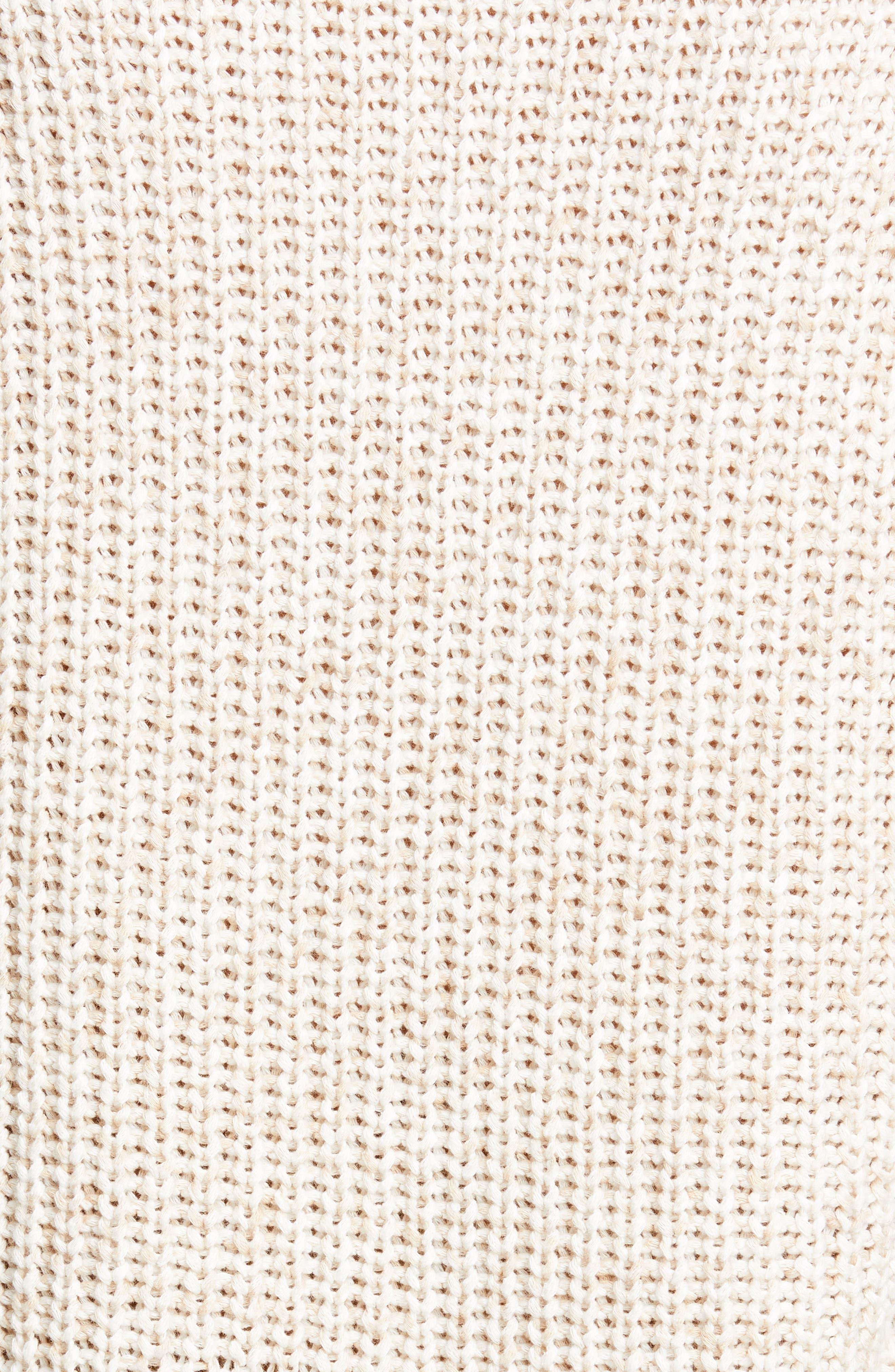 ALEX MILL, Mélange Sweater, Alternate thumbnail 5, color, LIGHT KHAKI