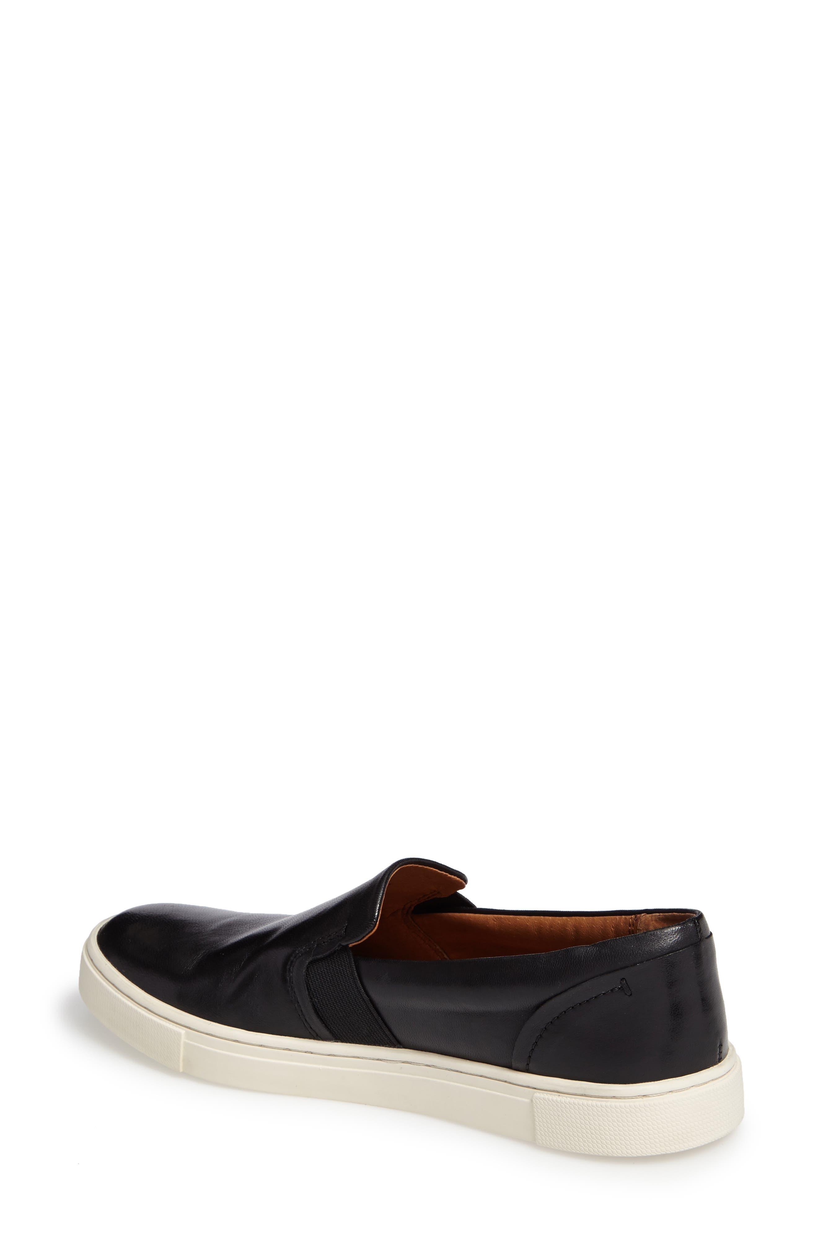 FRYE, Ivy Slip-On Sneaker, Alternate thumbnail 2, color, BLACK/ BLACK