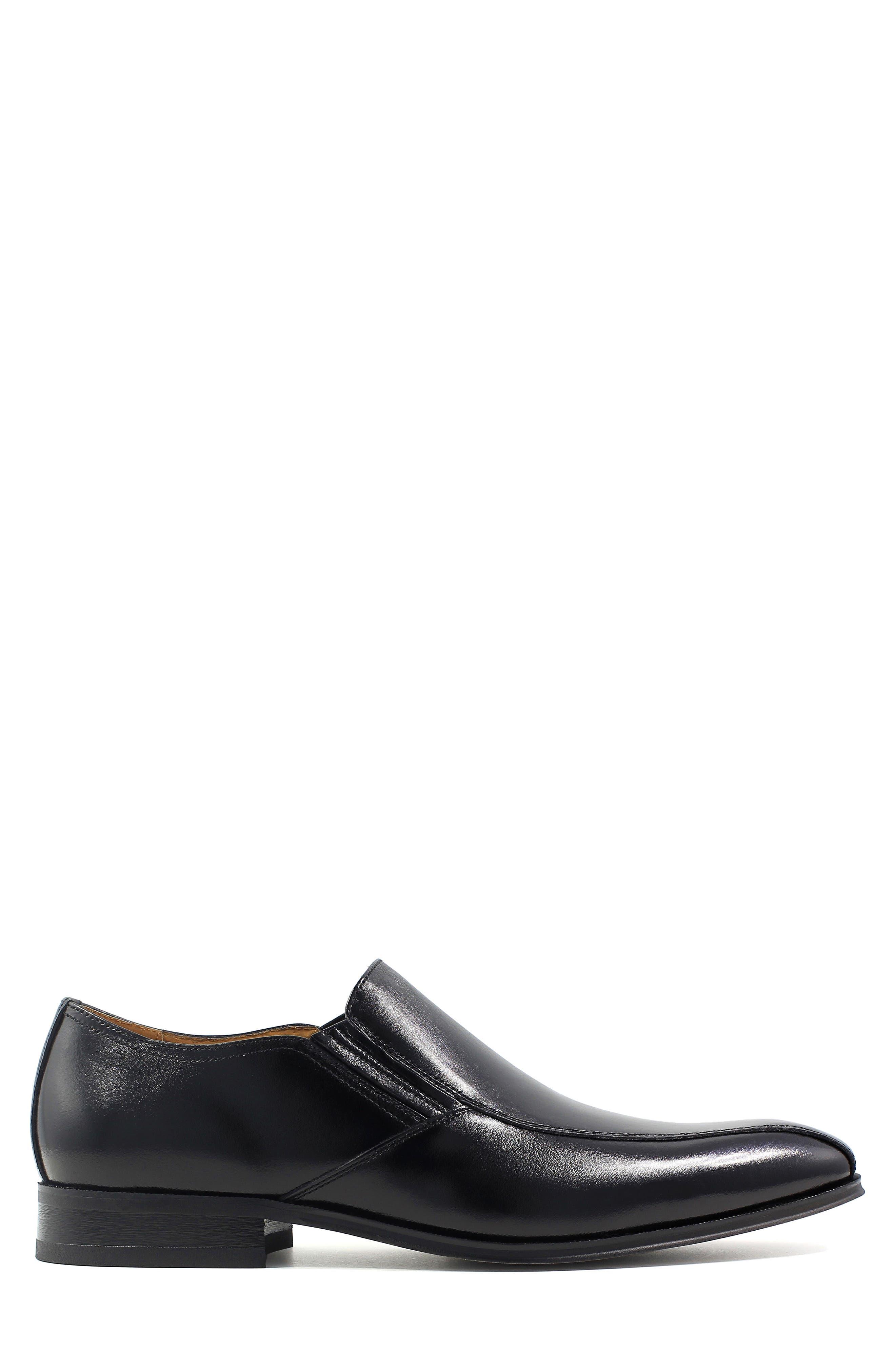 FLORSHEIM, Corbetta Venetian Loafer, Alternate thumbnail 3, color, BLACK