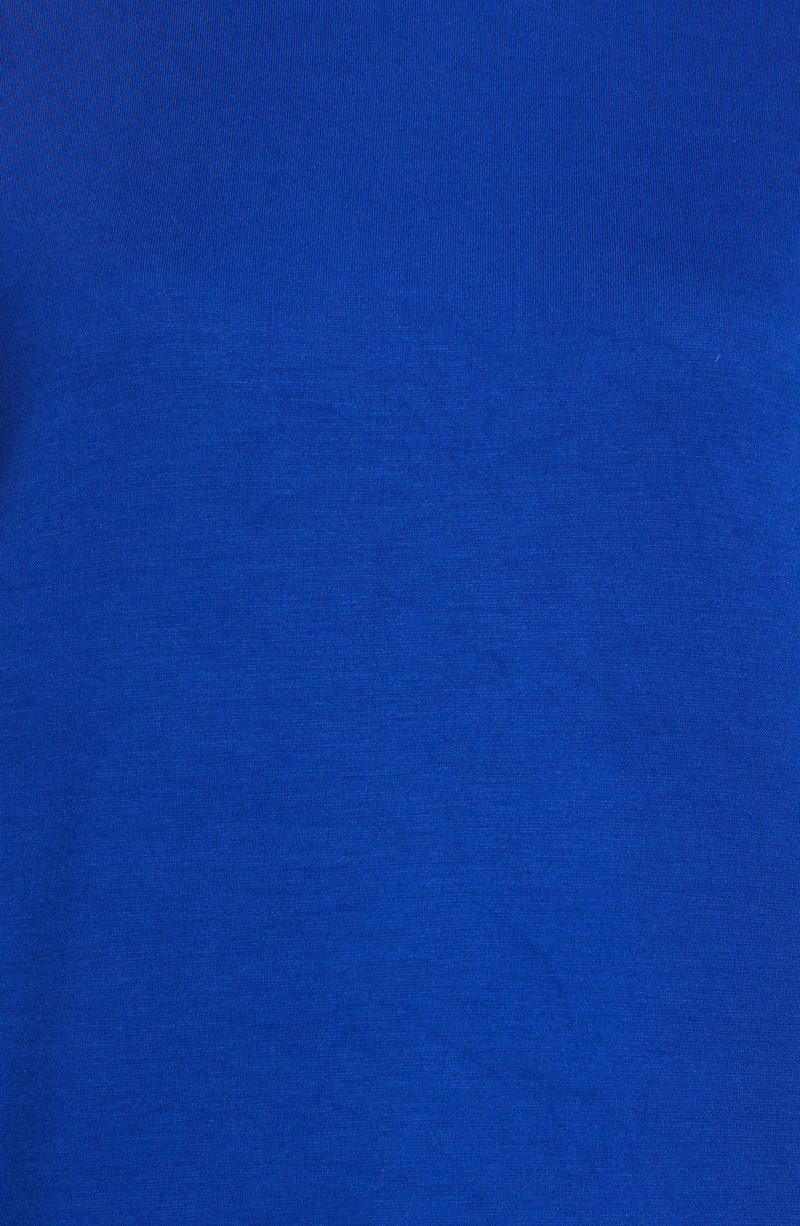 HALOGEN<SUP>®</SUP>, Patch Pocket Tunic, Alternate thumbnail 5, color, COBALT