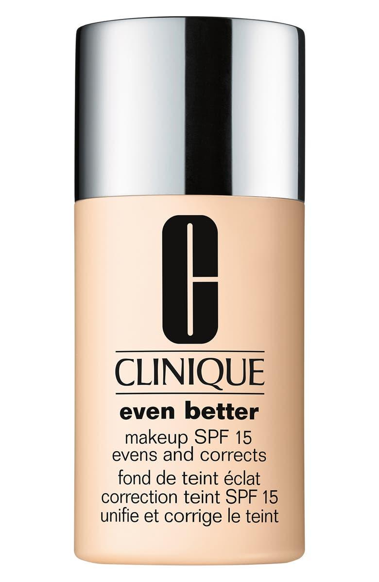 CLINIQUE Even Better Makeup SPF 15, Main, color, 10 ALABASTER
