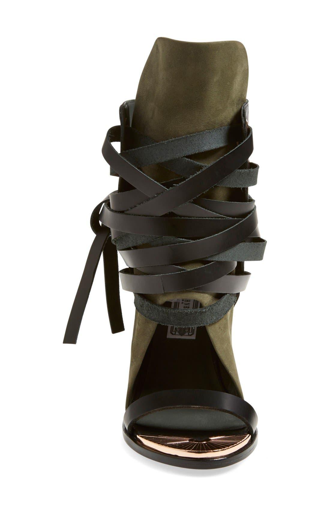 IVY KIRZHNER, 'Mount' Wedge Sandal, Alternate thumbnail 3, color, 001